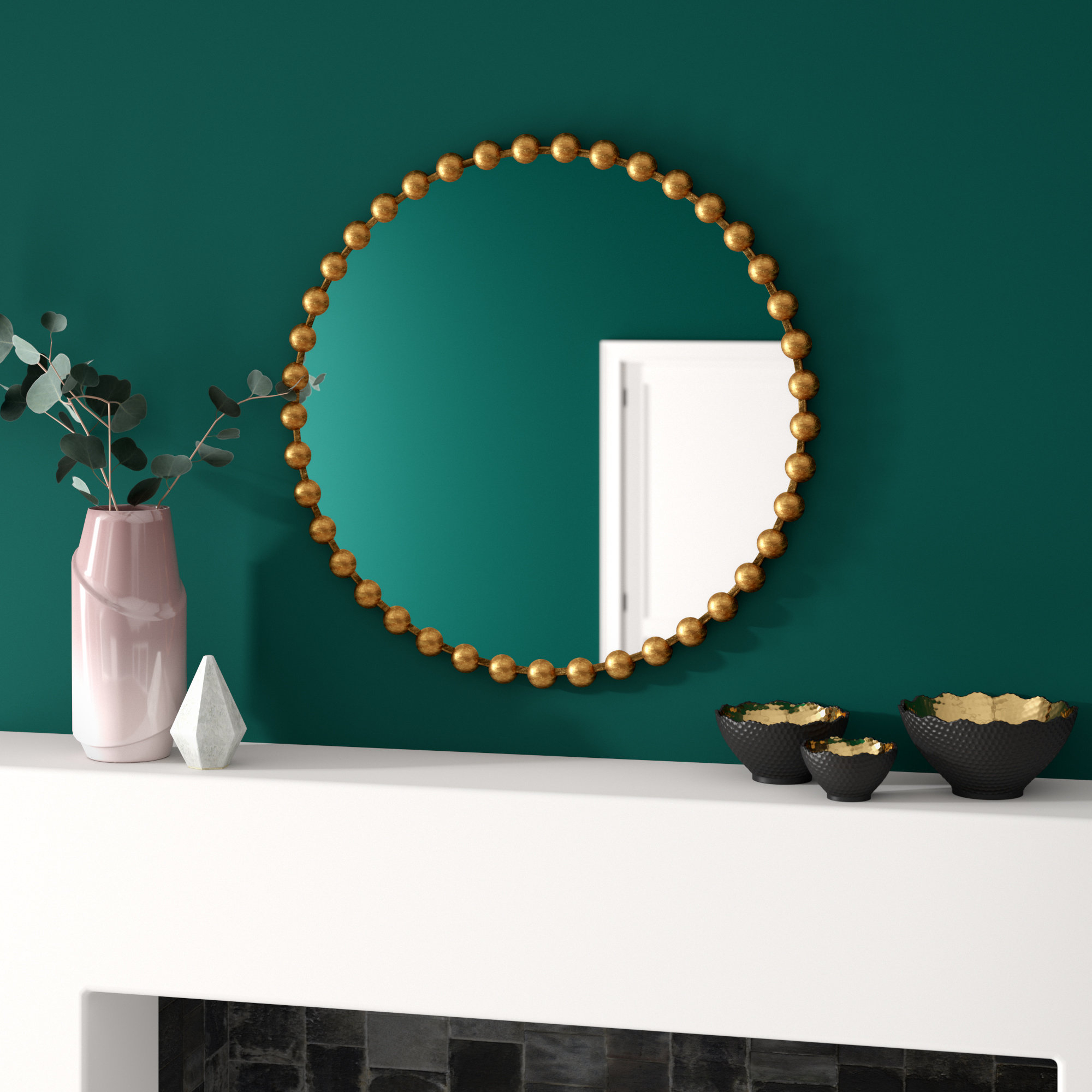 Marlowe Modern Accent Mirror Regarding Widely Used Diamondville Modern & Contemporary Distressed Accent Mirrors (View 2 of 20)