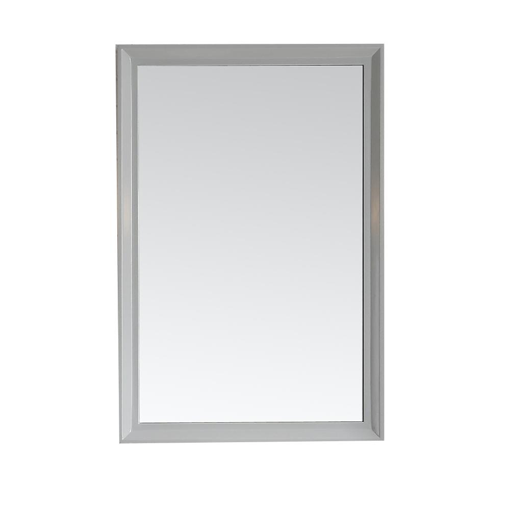 Martha Stewart Living Parrish 24 In. X 36 In. Framed Wall Mirror In Dove  Grey For Most Popular 24 X 36 Wall Mirrors (Gallery 1 of 20)