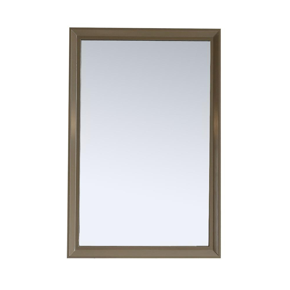 Martha Stewart Living Parrish 24 In. X 36 In. Framed Wall Mirror In Mushroom With Regard To Trendy Mirror Framed Wall Mirrors (Gallery 3 of 20)