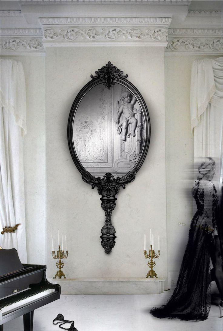 Marvelous Black Decorative Mirrors Photos Best Inspiration Home And With Favorite Decorative Black Wall Mirrors (View 17 of 20)