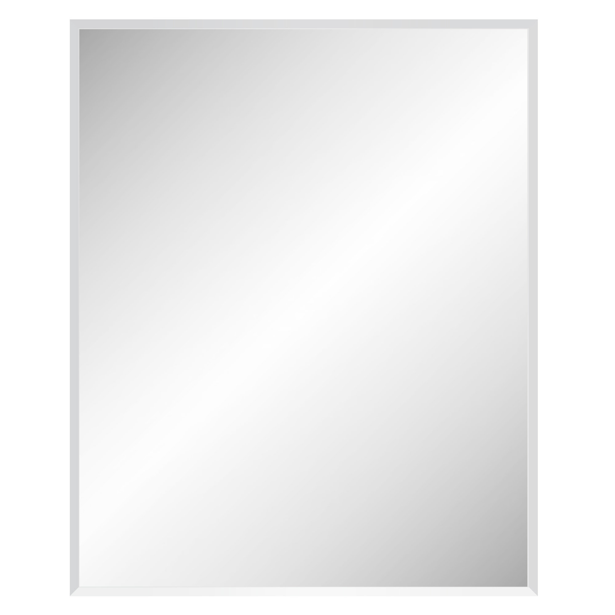 Marylee Rectangle Beveled Polish Frameless Wall Mirror With Hooks With Regard To Most Recently Released Unframed Wall Mirrors (View 6 of 20)