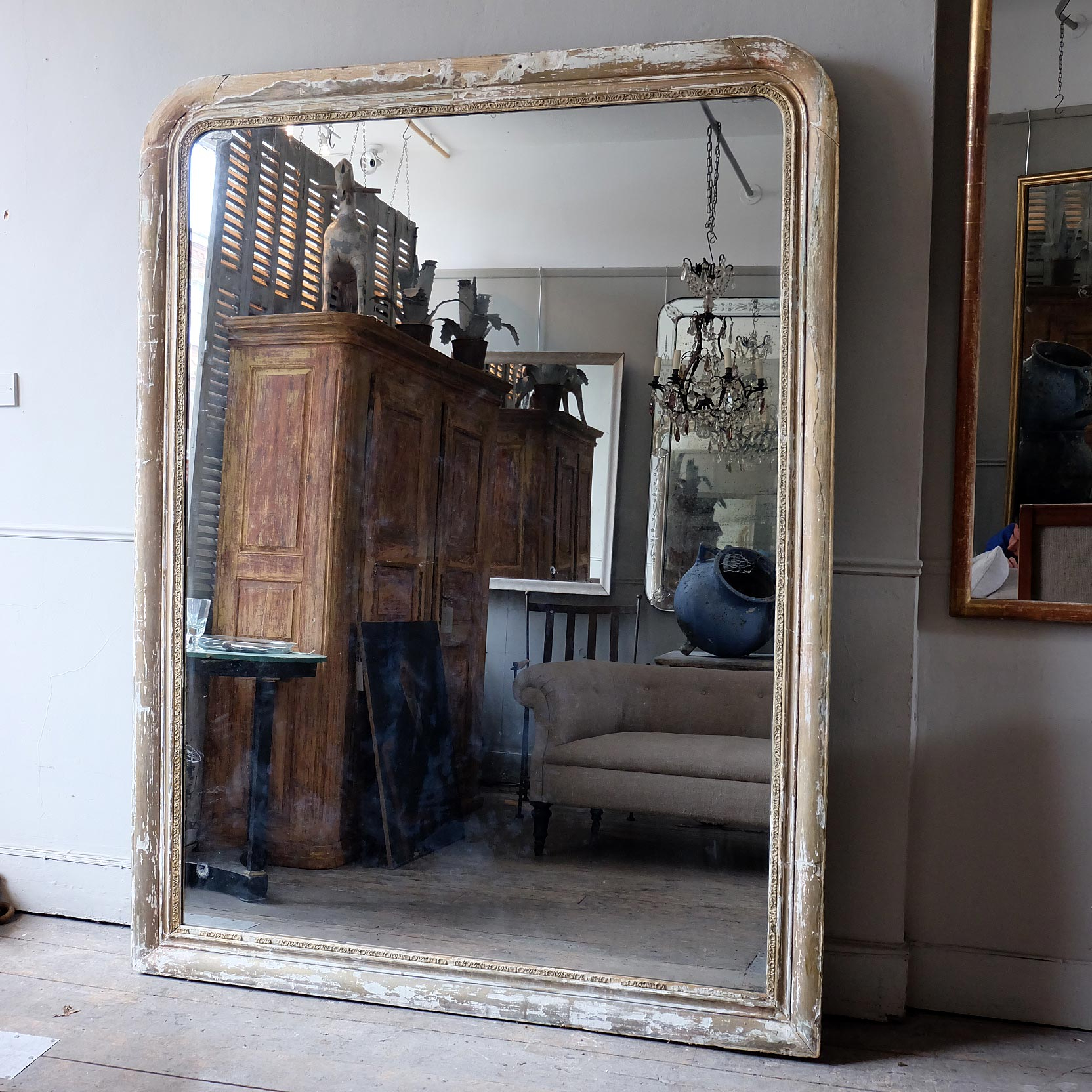 Massive Antique Mirror Puckhaber Decorative Antiques Oversized Within Current Massive Wall Mirrors (View 7 of 20)