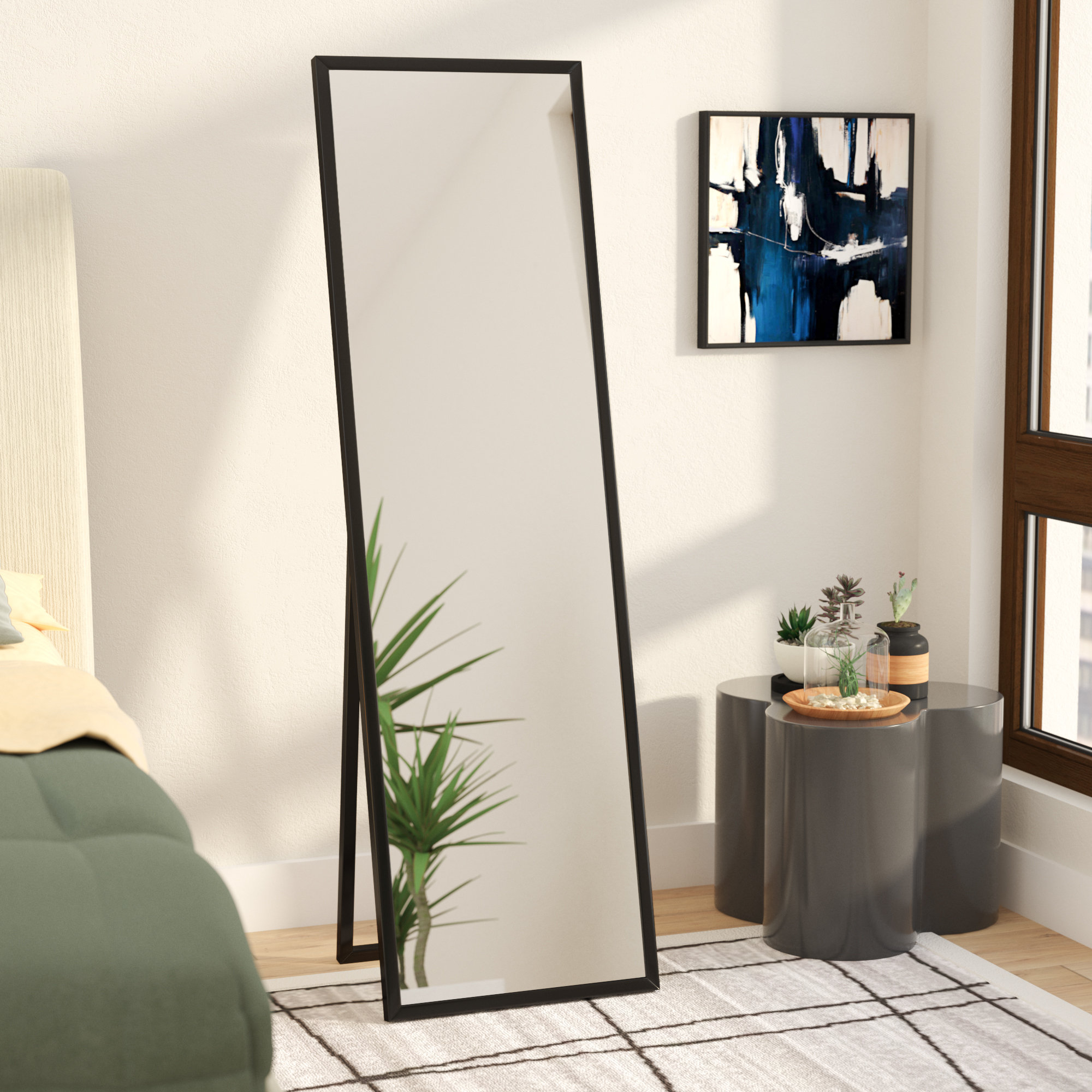 Mcgary Free Standing Floor Modern & Contemporary Full Length Mirror Pertaining To Well Known Stand Up Wall Mirrors (View 8 of 20)