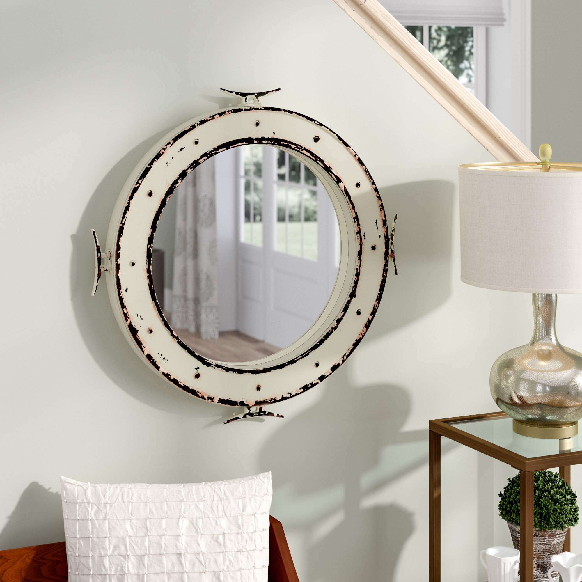 Mcmillen Coastal Wall Mirror For Recent Alie Traditional Beveled Distressed Accent Mirrors (View 13 of 20)