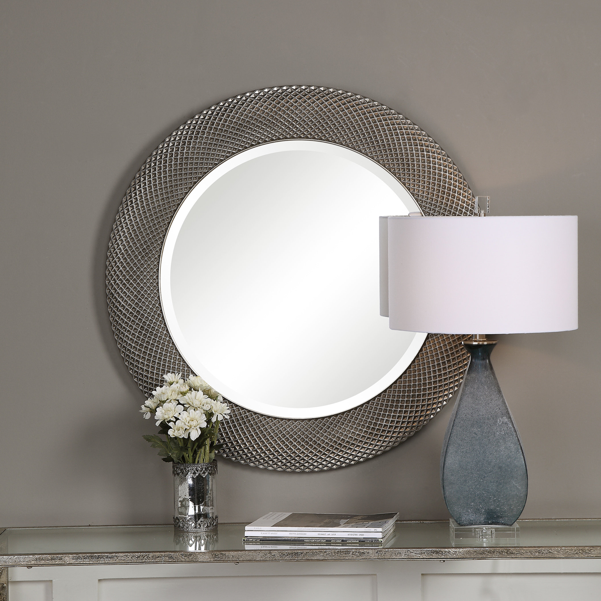 Mcneal Round Accent Mirror Within Well Known Round Eclectic Accent Mirrors (Gallery 12 of 20)