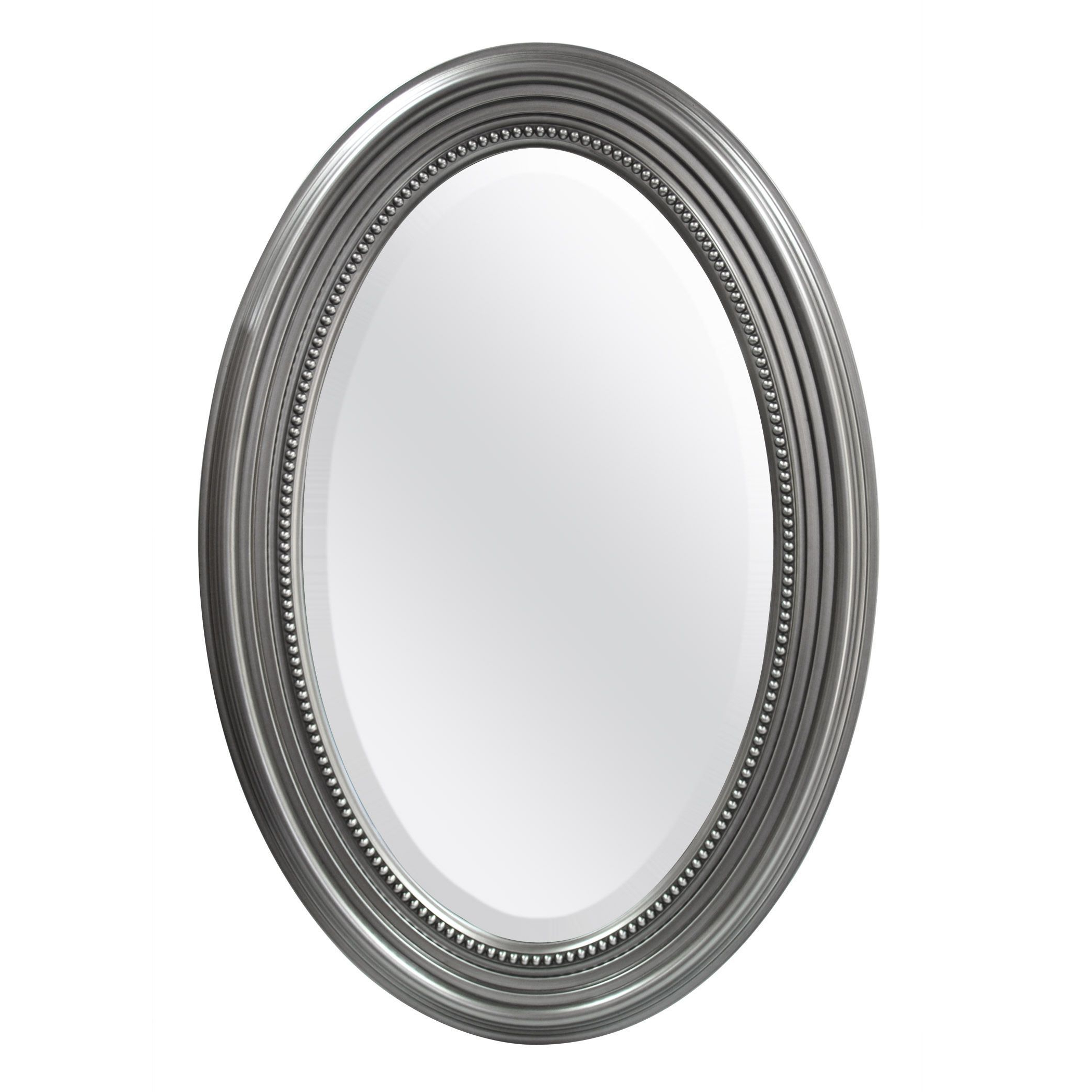 Mcs Industries Silver Beaded Oval Wall Mirror (View 15 of 20)