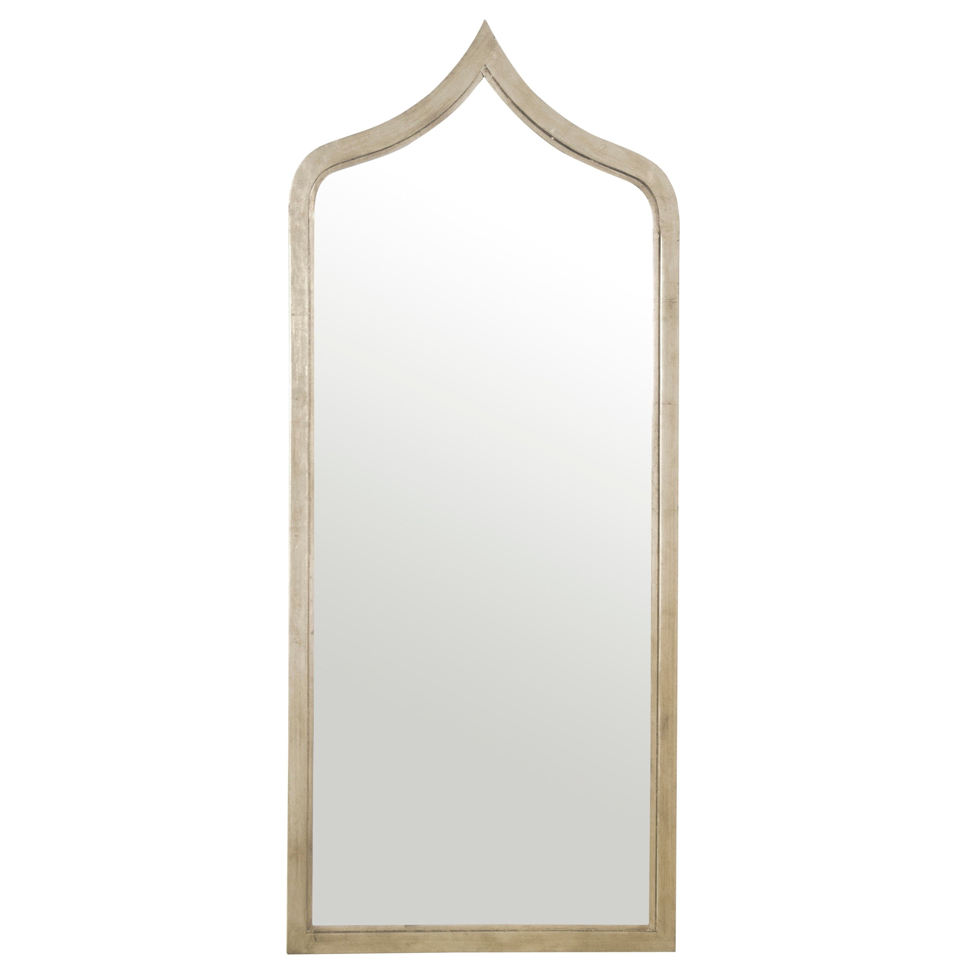 Menachem Modern & Contemporary Accent Mirrors Throughout Latest Worlds Away Adina Silver Leafed Extra Long Mirror In (View 9 of 20)