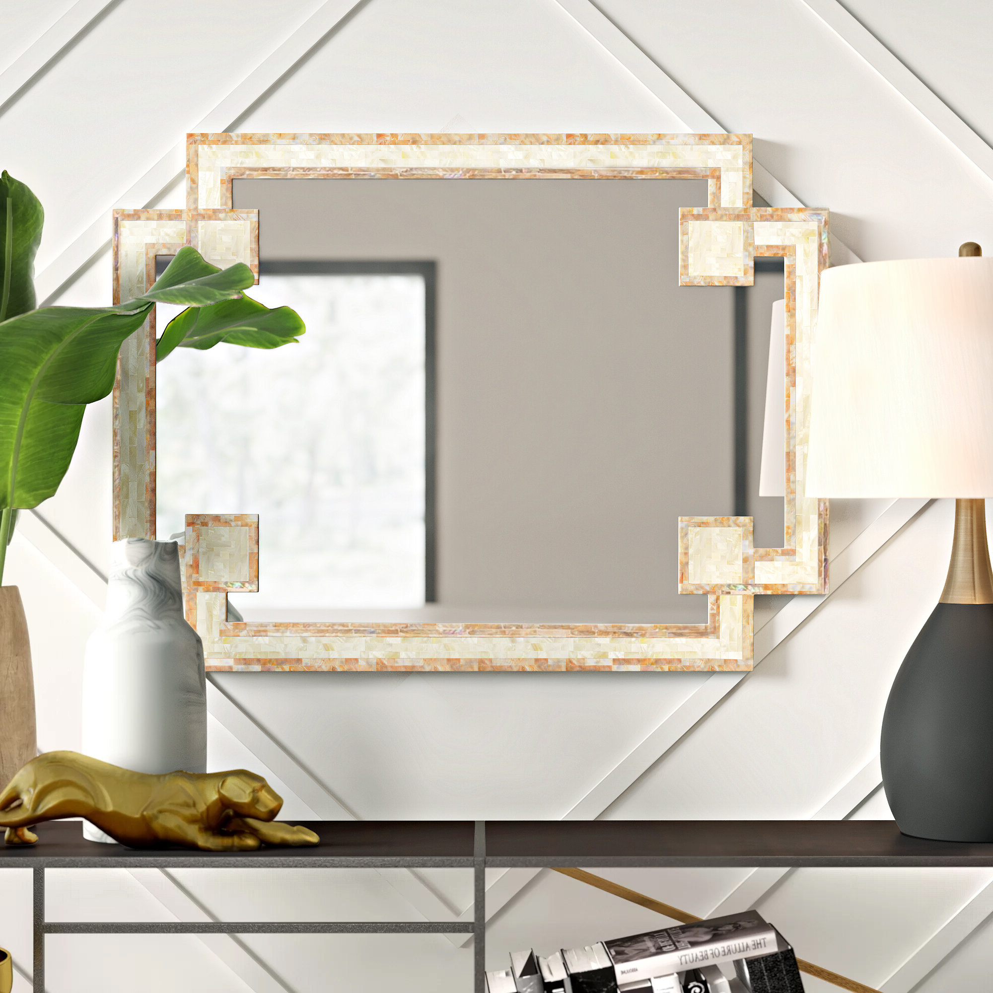 Mercury Row Latrell Modern & Contemporary Wall Mirror Inside Most Current Reba Accent Wall Mirrors (View 18 of 20)