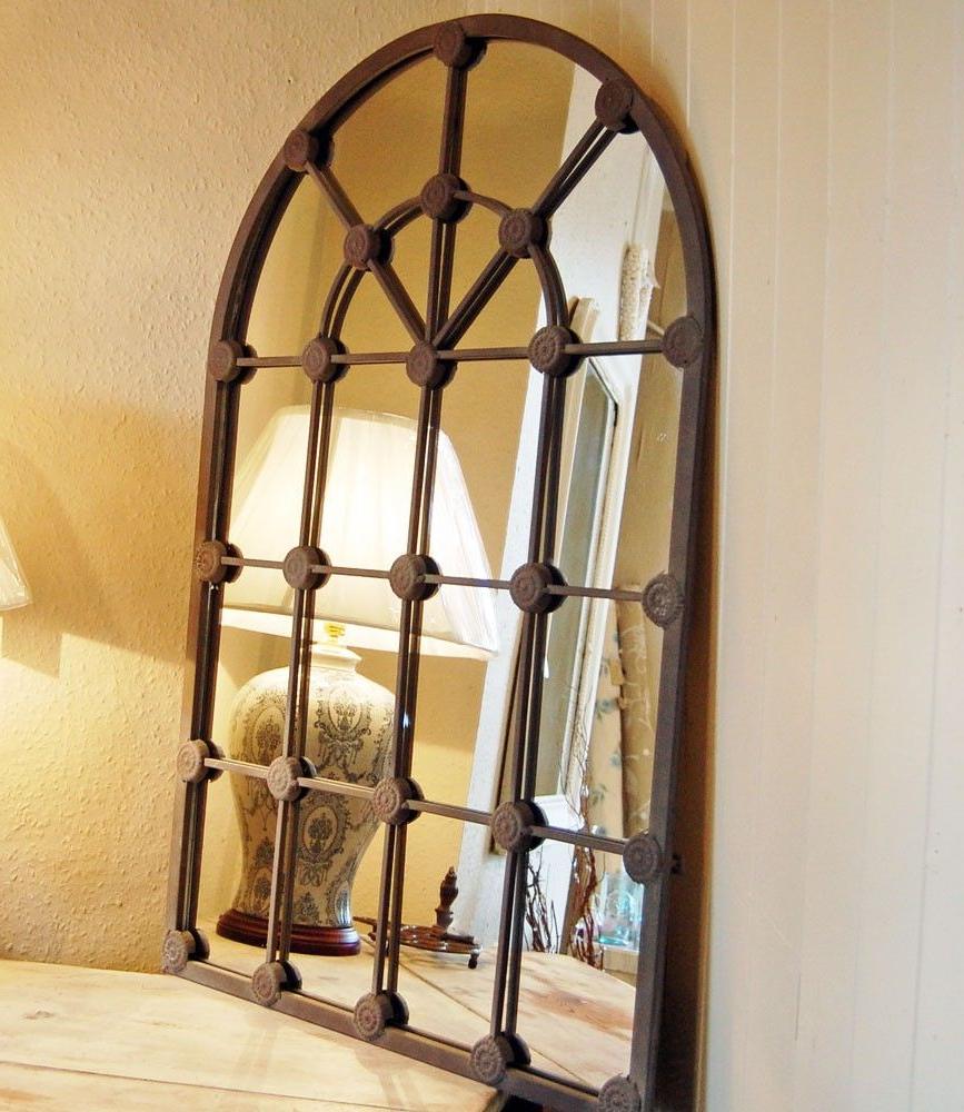Metal Arch Window Wall Mirrors With Best And Newest French Window Arch Mirror (Gallery 5 of 20)