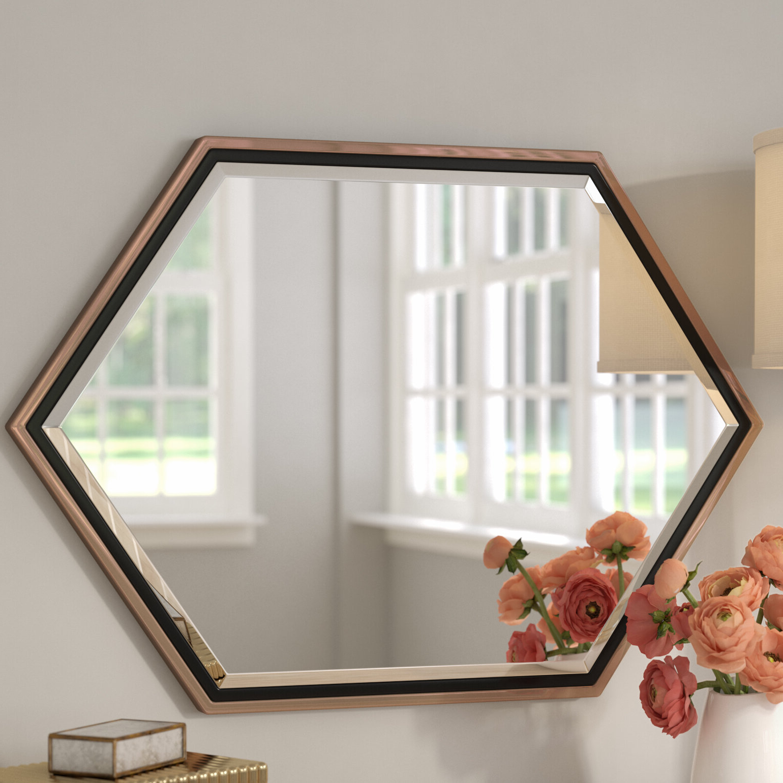 Metal Frame Wall Mirrors Pertaining To Recent Contemporary Metal Frame Accent Wall Mirror (View 4 of 20)