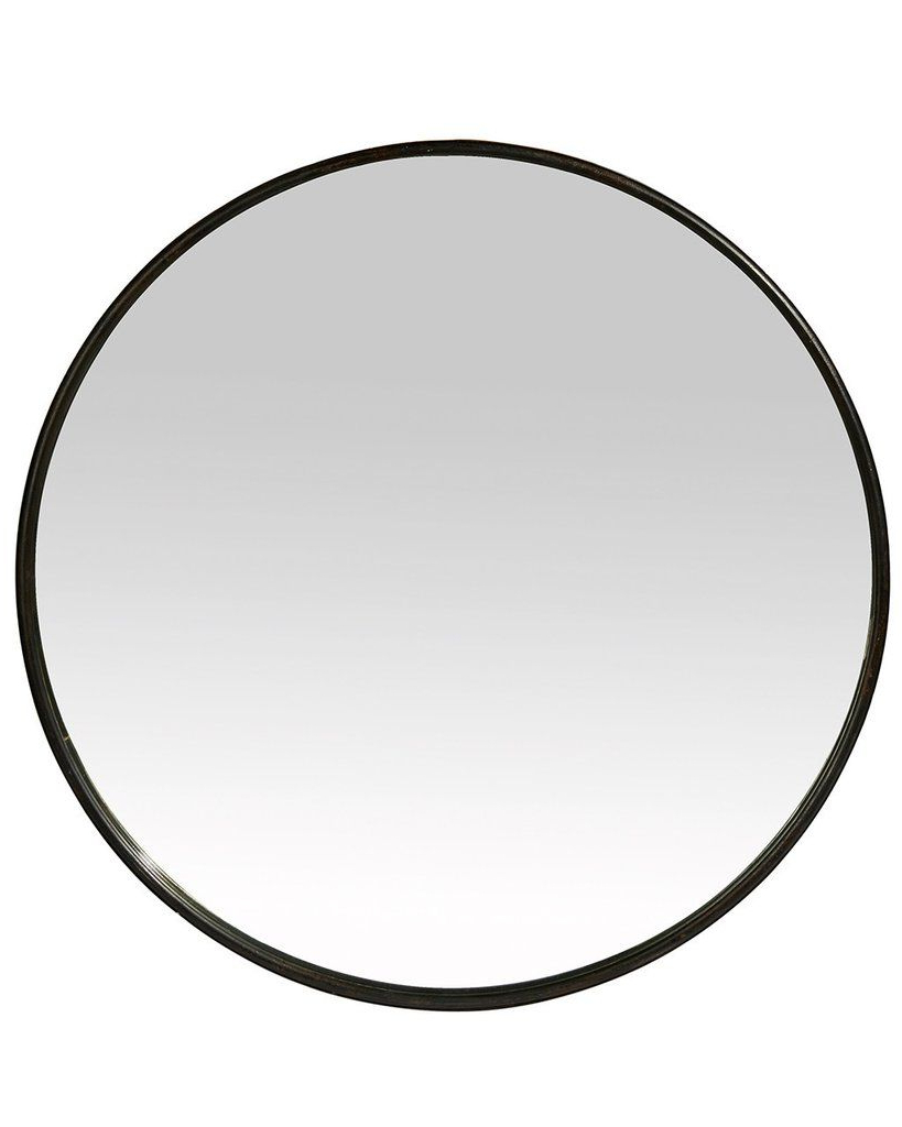 Metal Frame Wall Mirrors With Newest Boudoir – Black Round Mirror (metal Frame, Dia: 60cm) (View 12 of 20)