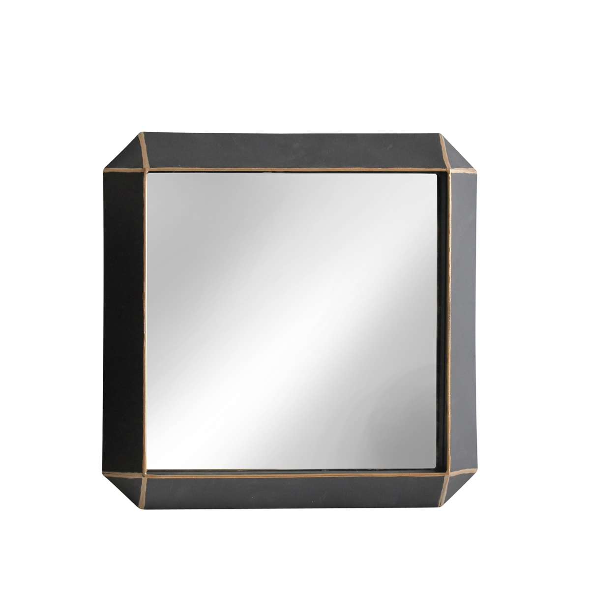 "Metal Frame Wall Mirrors With Regard To Newest Metal Frame 22"" Wall Mirror ,black – Wb (View 5 of 20)"