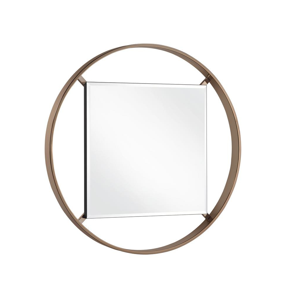 Metal Framed Wall Mirrors Throughout Widely Used Baie 33 In. Round Metal Framed Wall Mirror (Gallery 18 of 20)