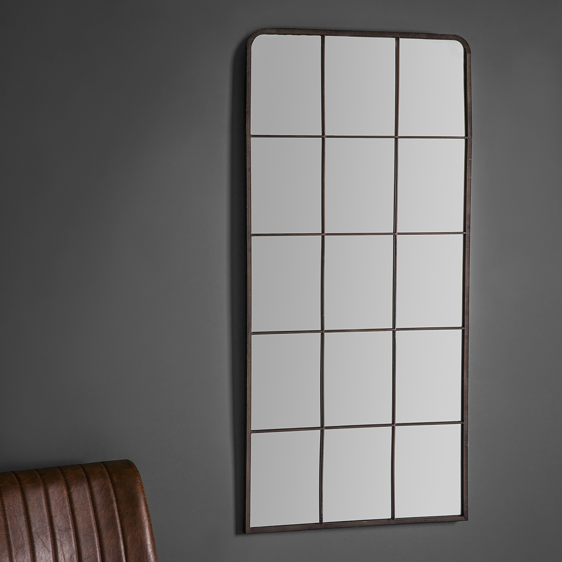 Metal Wall Mirrors Intended For Most Current Rectangular Industrial Metal Wall Mirror (View 7 of 20)