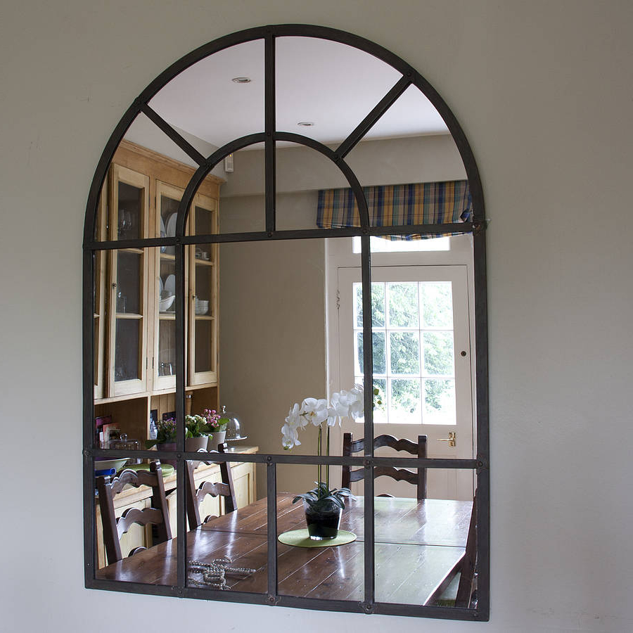Metal Wall Mirrors With Regard To Trendy Metal Arch Mirror (View 9 of 20)