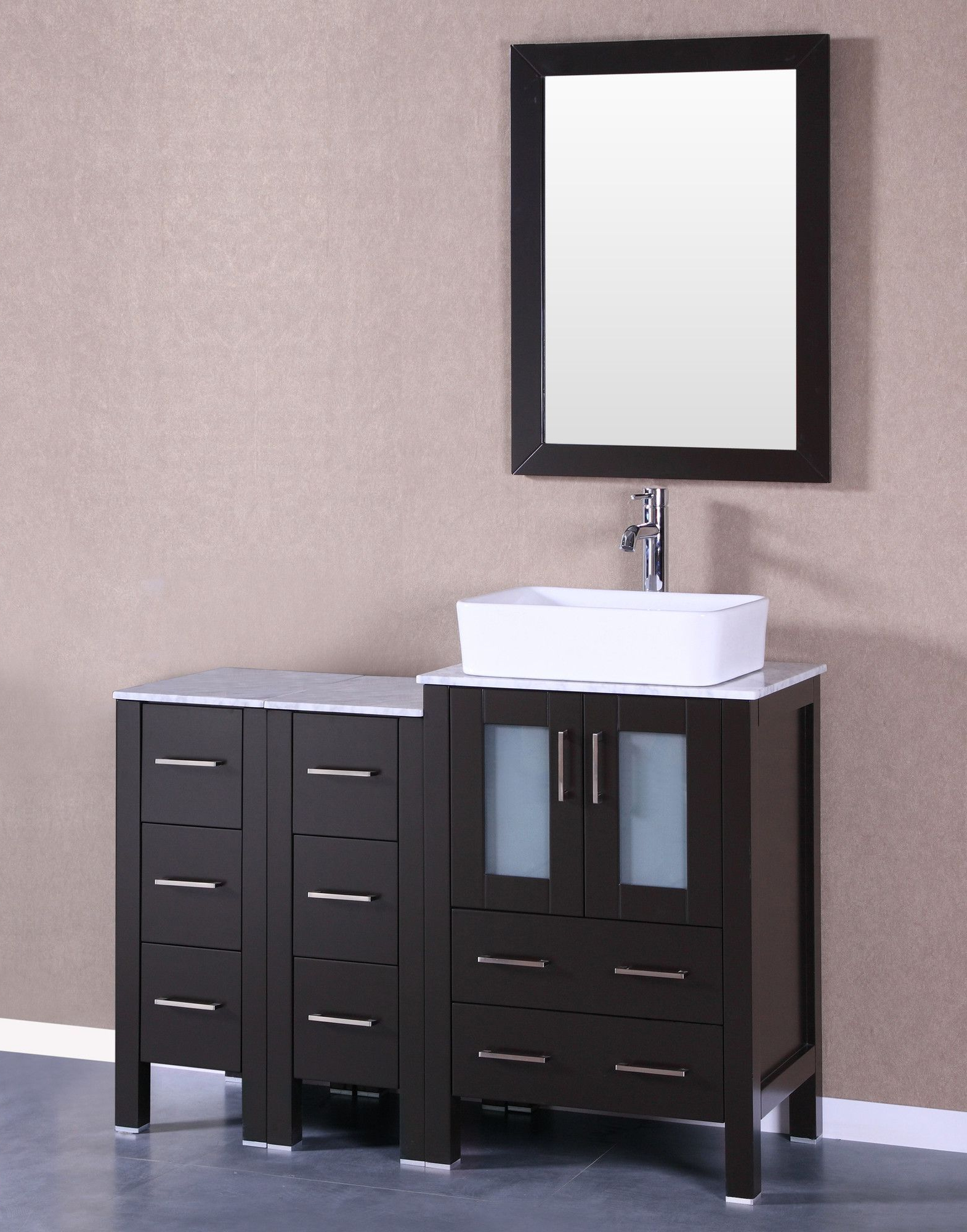 "Mexborough Bathroom/vanity Mirrors Pertaining To Most Popular 48"" Single Vanity Set With Mirror (View 11 of 20)"