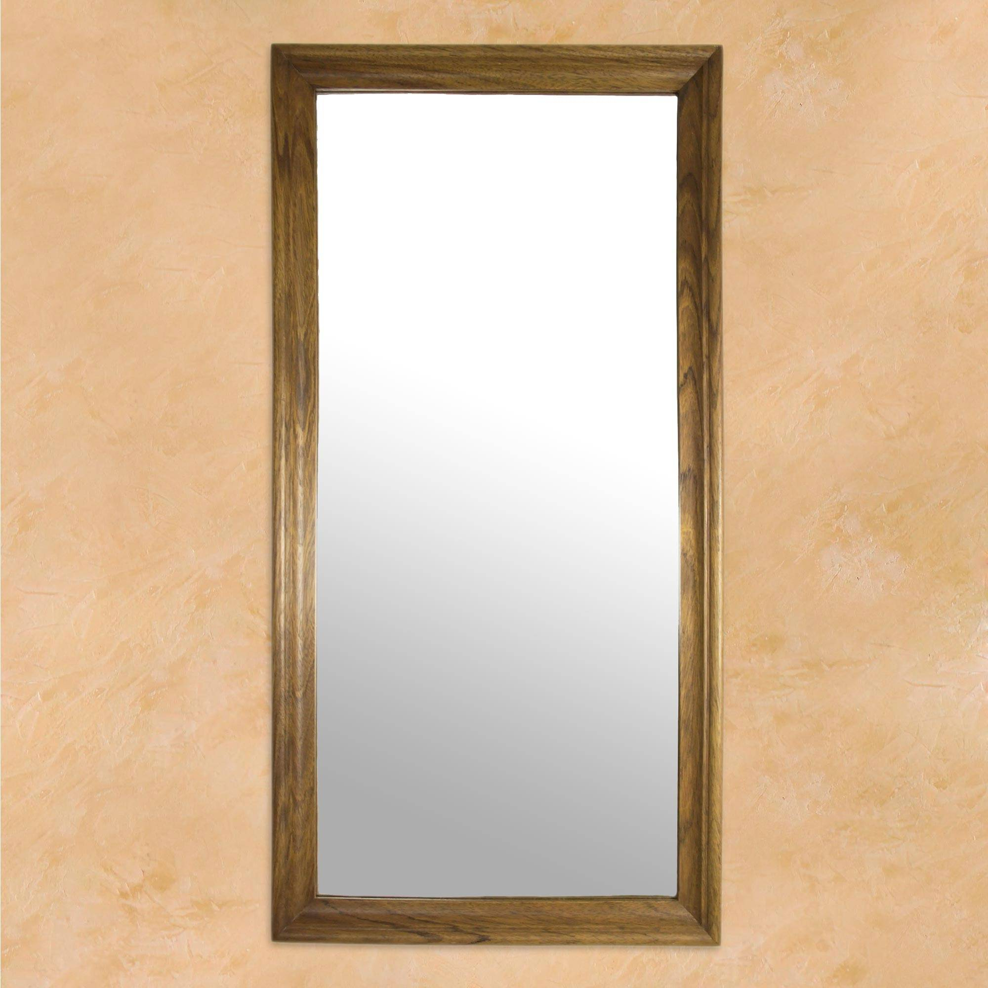 Mexican Wall Mirrors Throughout Most Recent Rectangular Minimalist Mexican Hardwood Wall Mirror, 'california Ranch' (Gallery 1 of 20)
