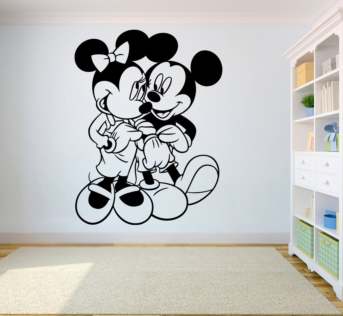 Mickey Mouse Wall Mirrors Within Famous Amazon: Mickey Mouse & Minnie Mouse Vinyl Poster Cartoon (View 8 of 20)