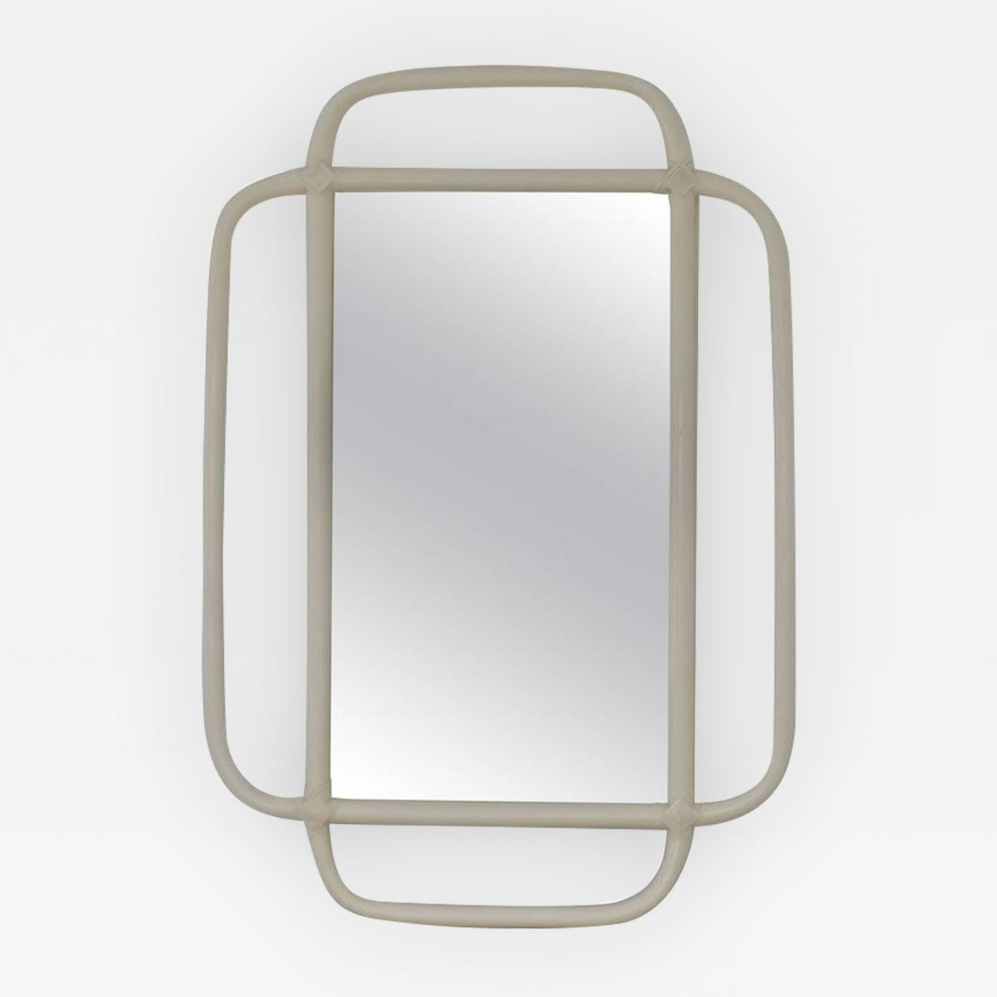 Mid Century Bent Bamboo Wall Mirror With Regard To Popular Bamboo Wall Mirrors (View 9 of 20)