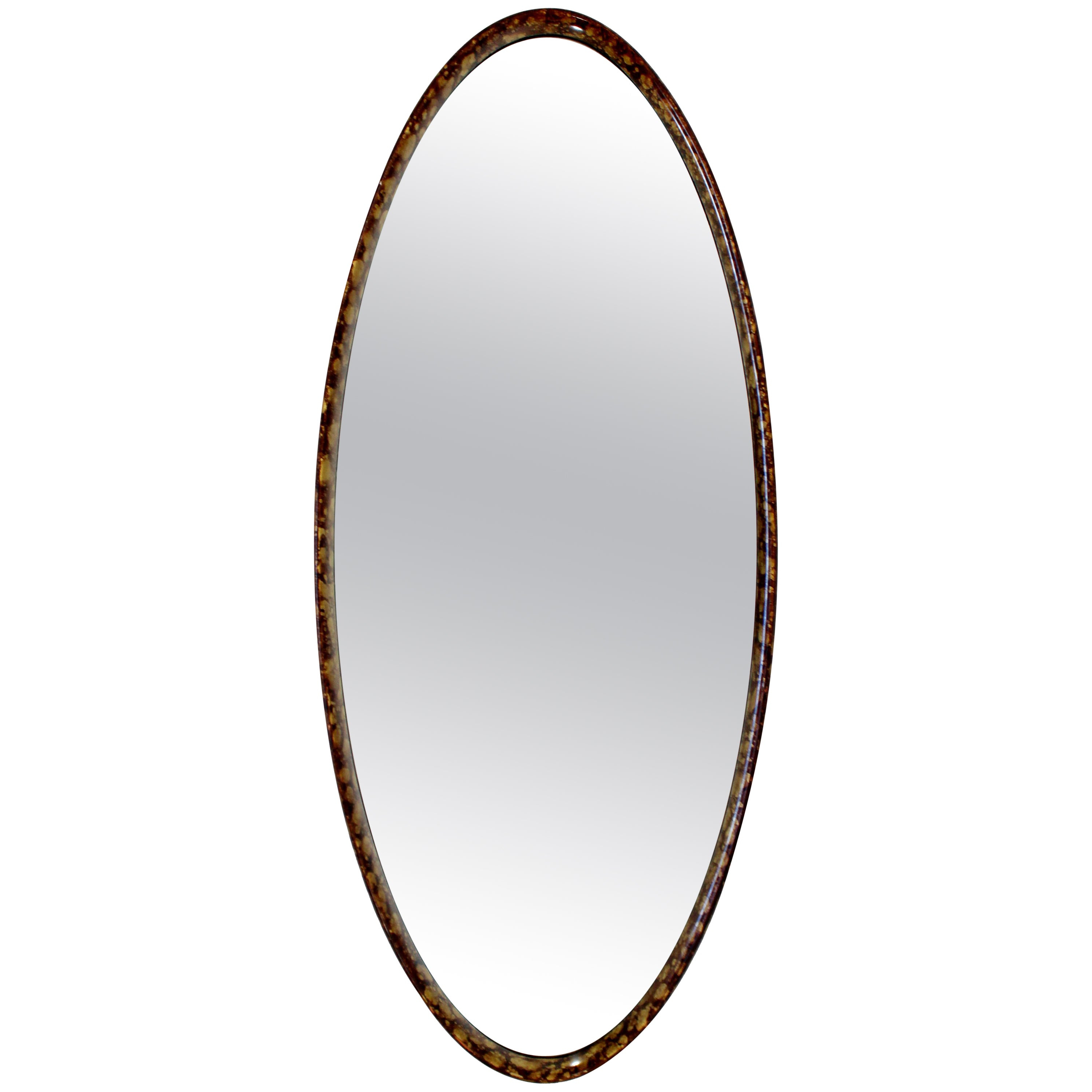 Mid Century Modern Hollywood Regency Large Oval Wall Mirrorla Barge,  1960s In 2019 Full Length Oval Wall Mirrors (View 5 of 20)