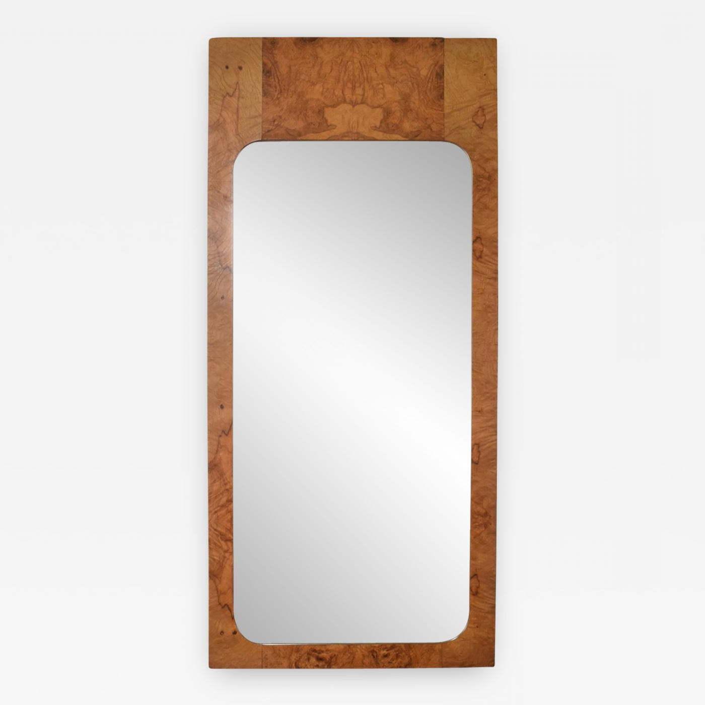 Mid Century Modern Wall Mirrors Intended For Widely Used Milo Baughman – Mid Century Modern Wall Mirror In Burl Wood After Milo  Baughman (Gallery 3 of 20)
