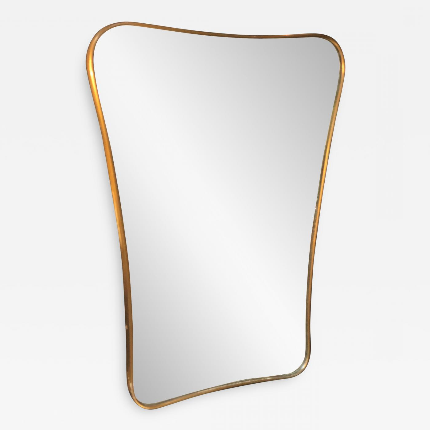Midcentury Wall Mirror Brass Frame Minimal And Sculptural Design, 1950S With Most Current Mid Century Wall Mirrors (Gallery 3 of 20)