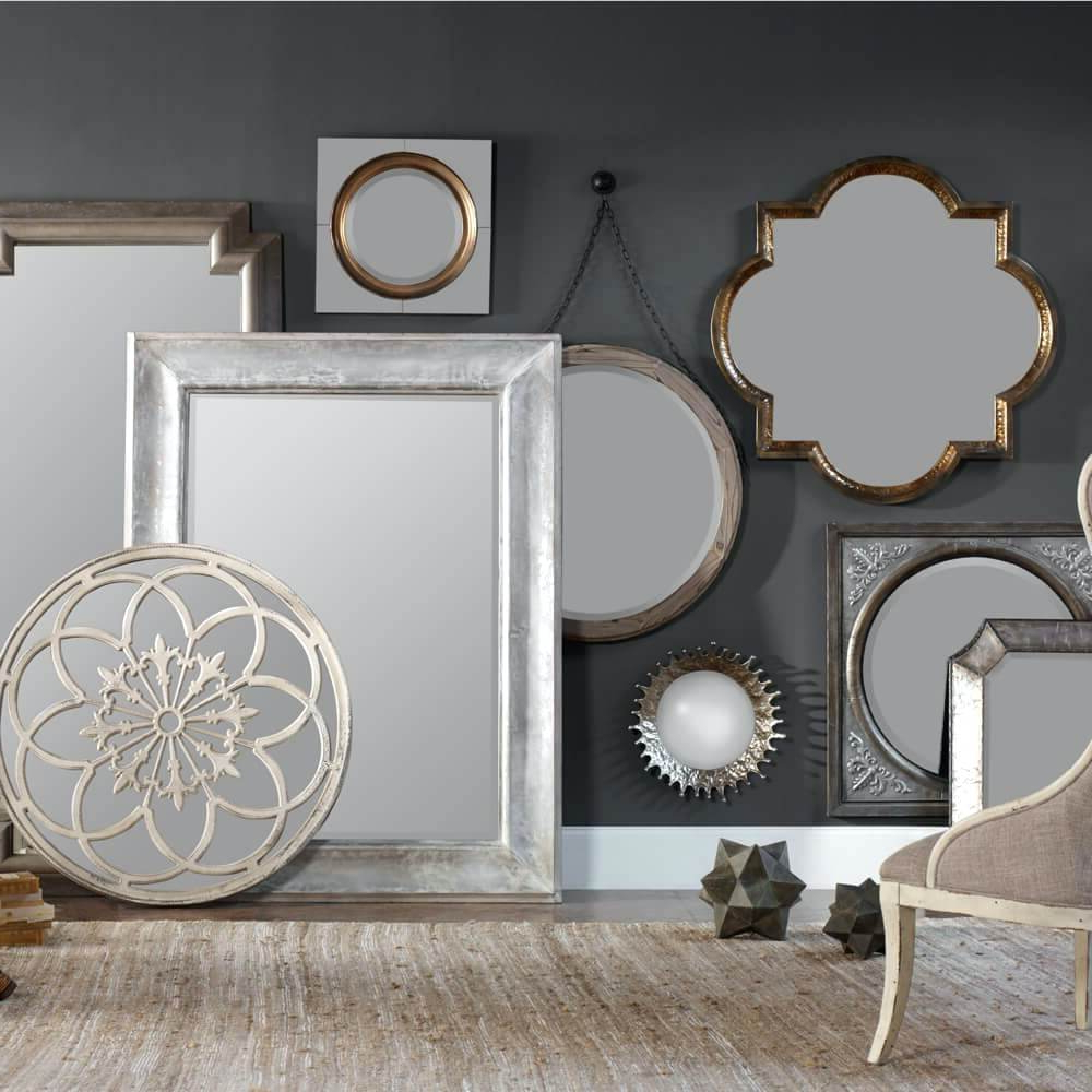 Mini Round Wall Mirrors Decorative Wood Uttermost Mirror Decor Within Trendy Mini Wall Mirrors (View 12 of 20)