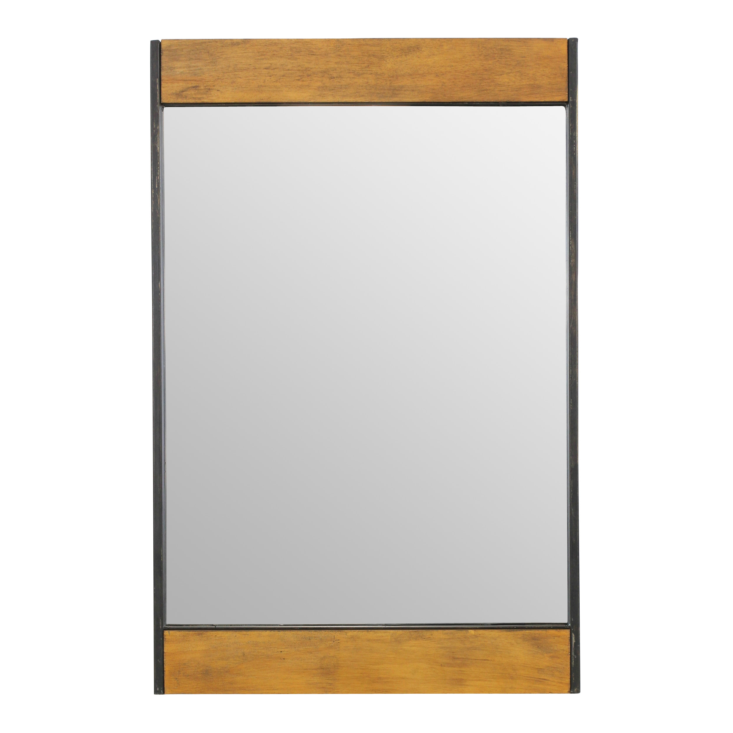 Miranda Wood And Metal Wall Mirror In Well Known Koeller Industrial Metal Wall Mirrors (View 5 of 20)