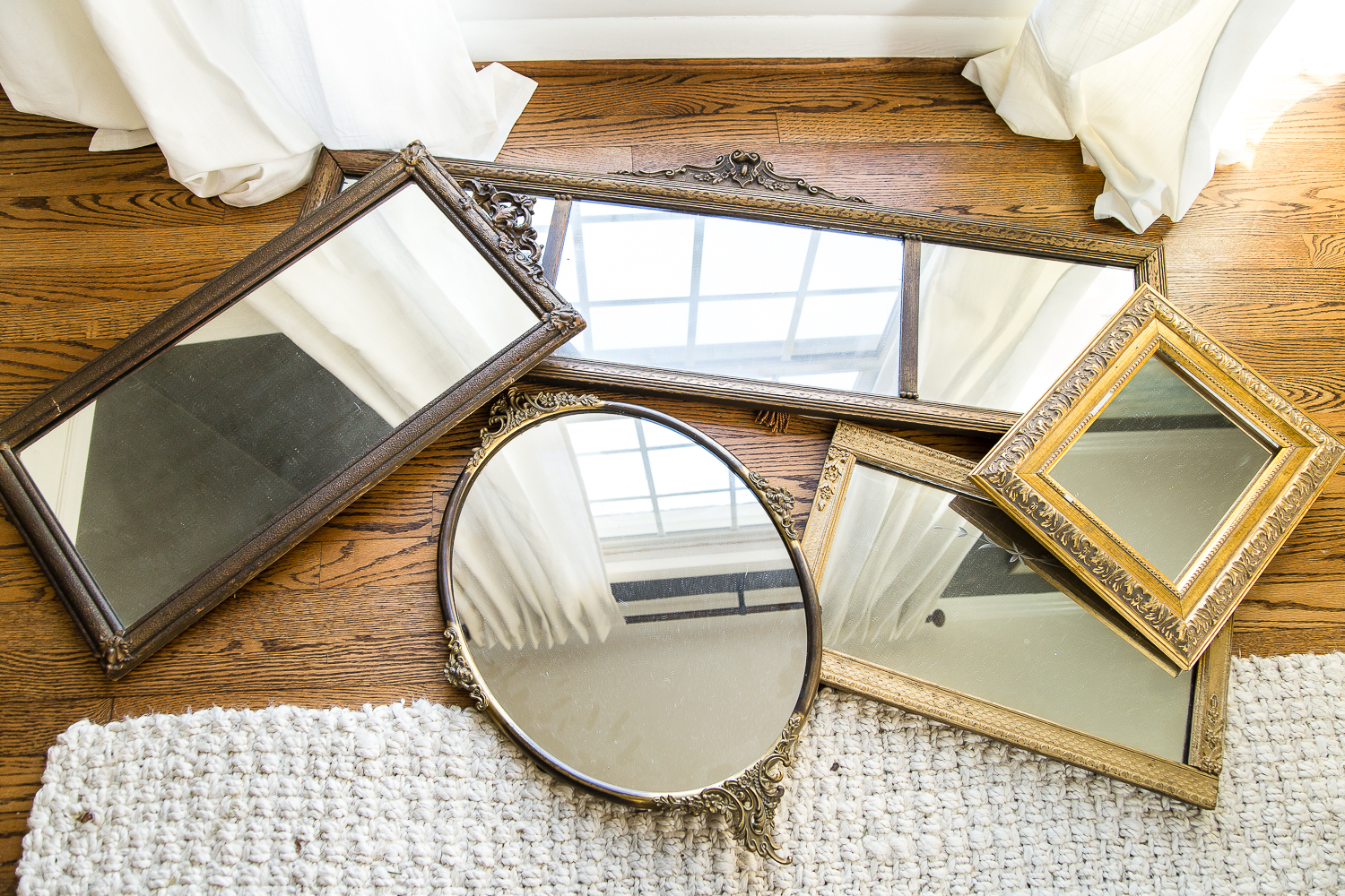 Mirror Gallery Wall From Thrifted Frames – Bless'er House Pertaining To Well Known Gallery Wall Mirrors (View 9 of 20)