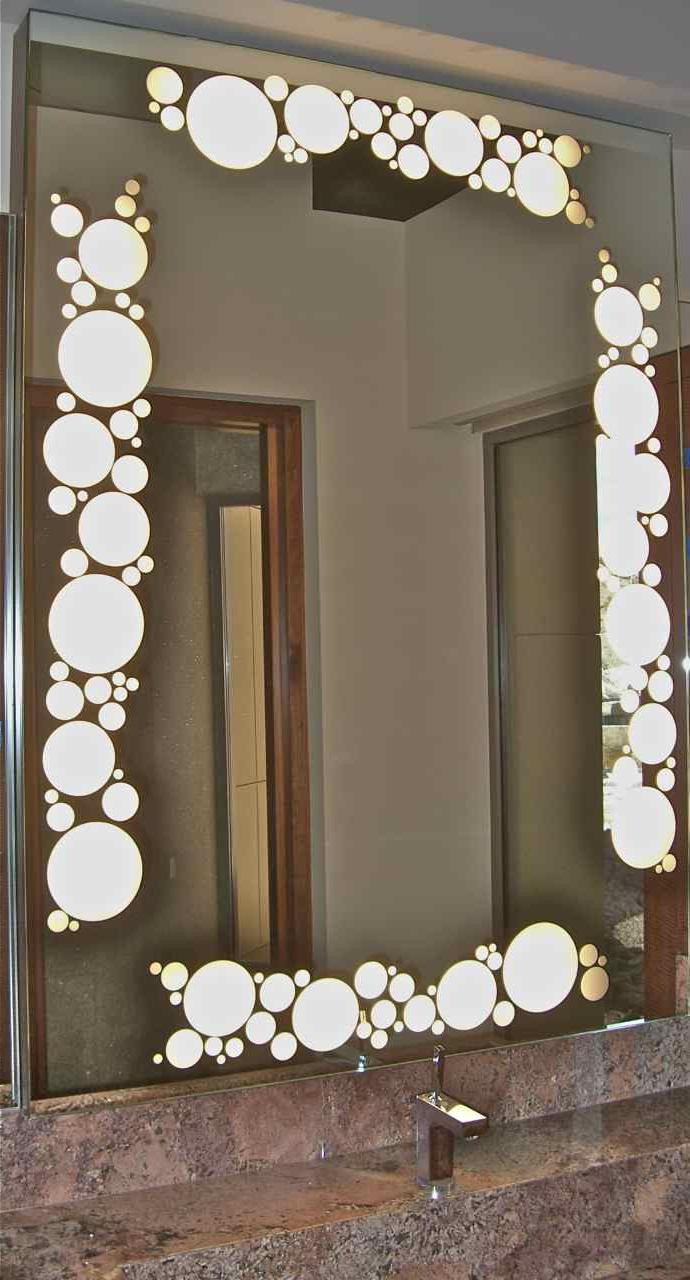 Mirror Geometric Border Circles Bubbles –  (View 9 of 20)