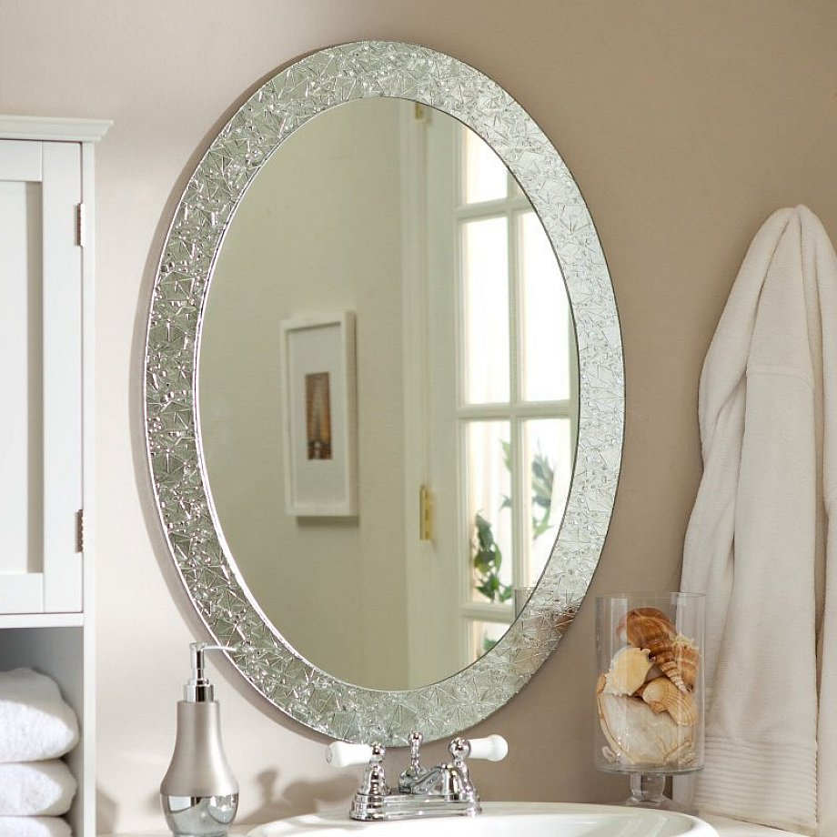 Mirror Large Silver Wall Unique Decoration And Beautiful Throughout Favorite Dedrick Decorative Framed Modern And Contemporary Wall Mirrors (View 13 of 20)
