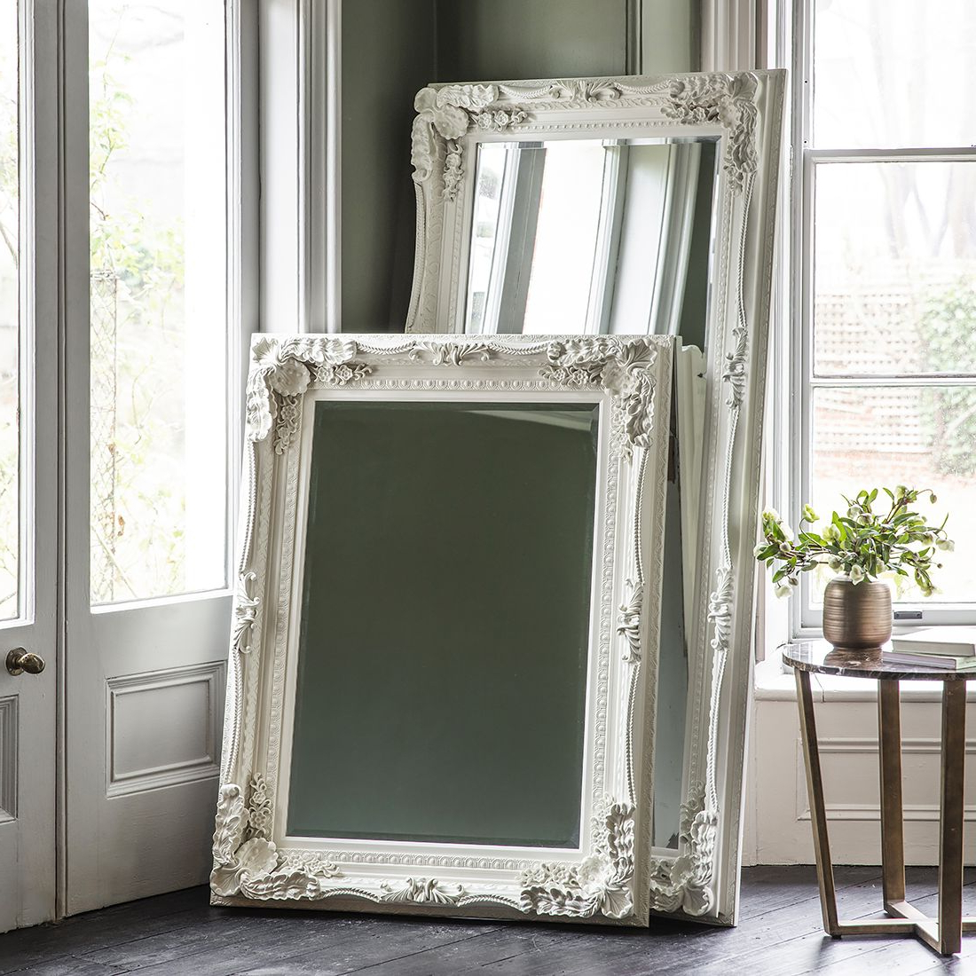 Mirror Mirror On Intended For Trendy Window Cream Wood Wall Mirrors (View 6 of 20)