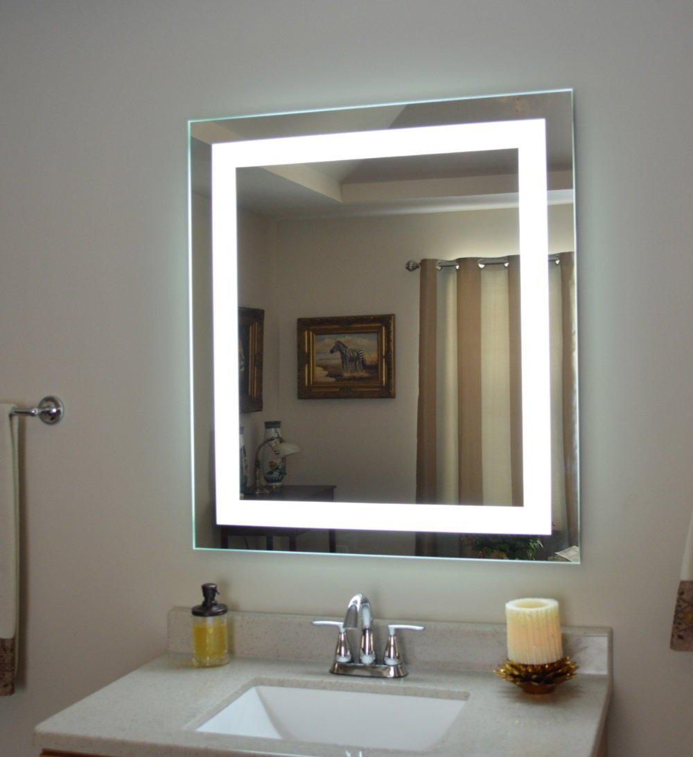 Mirror: Stylish Wall Mounted Lighted Makeup Mirror For Bathroom In Latest Light Up Wall Mirrors (View 14 of 20)