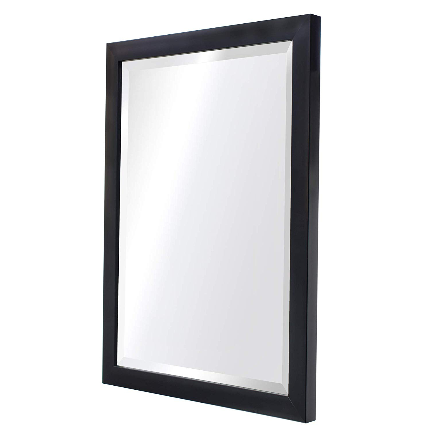 "Mirror Trend Clean Modern Black Frame Wall Mirror Contemporary Style Mirror For Bathroom Mirror For Living Room For Bedroom Makeup Mirror (16"" X 20"") With Regard To Most Up To Date Contemporary Black Wall Mirrors (View 5 of 20)"