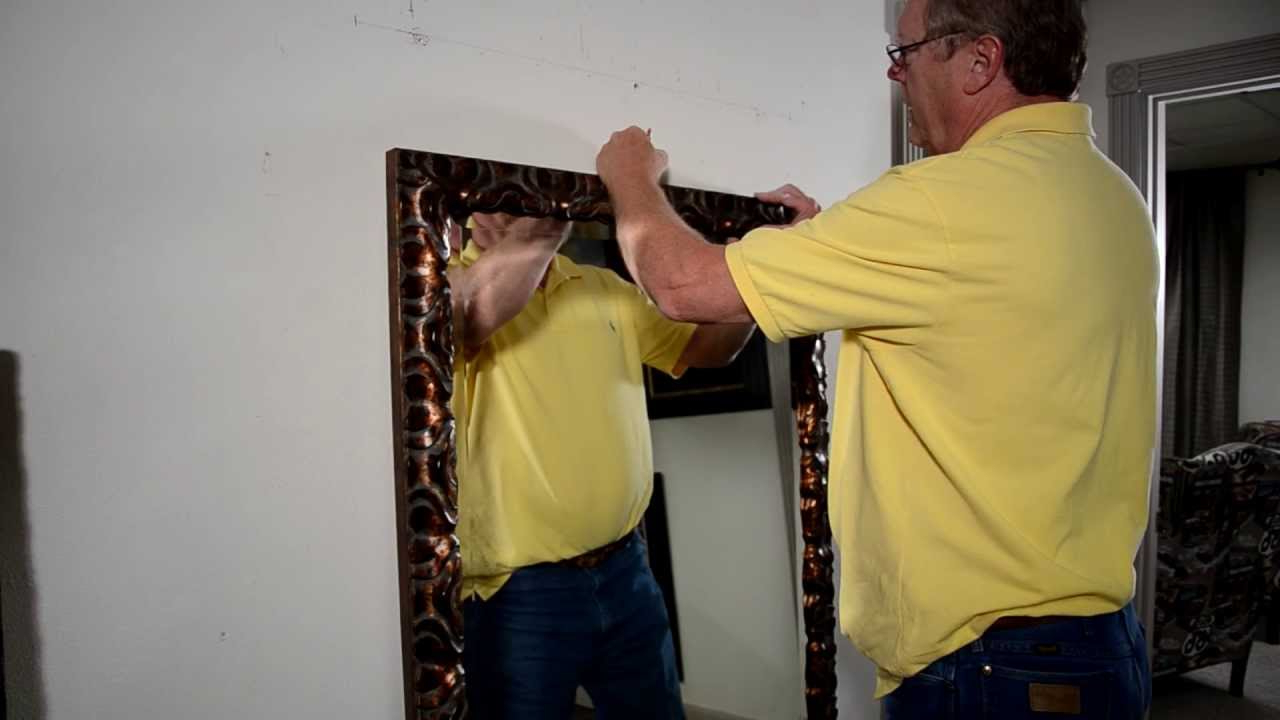 Mirrorlot – How To Secure A Leaning Mirror To The Wall Intended For 2019 Baby Safe Wall Mirrors (View 13 of 20)
