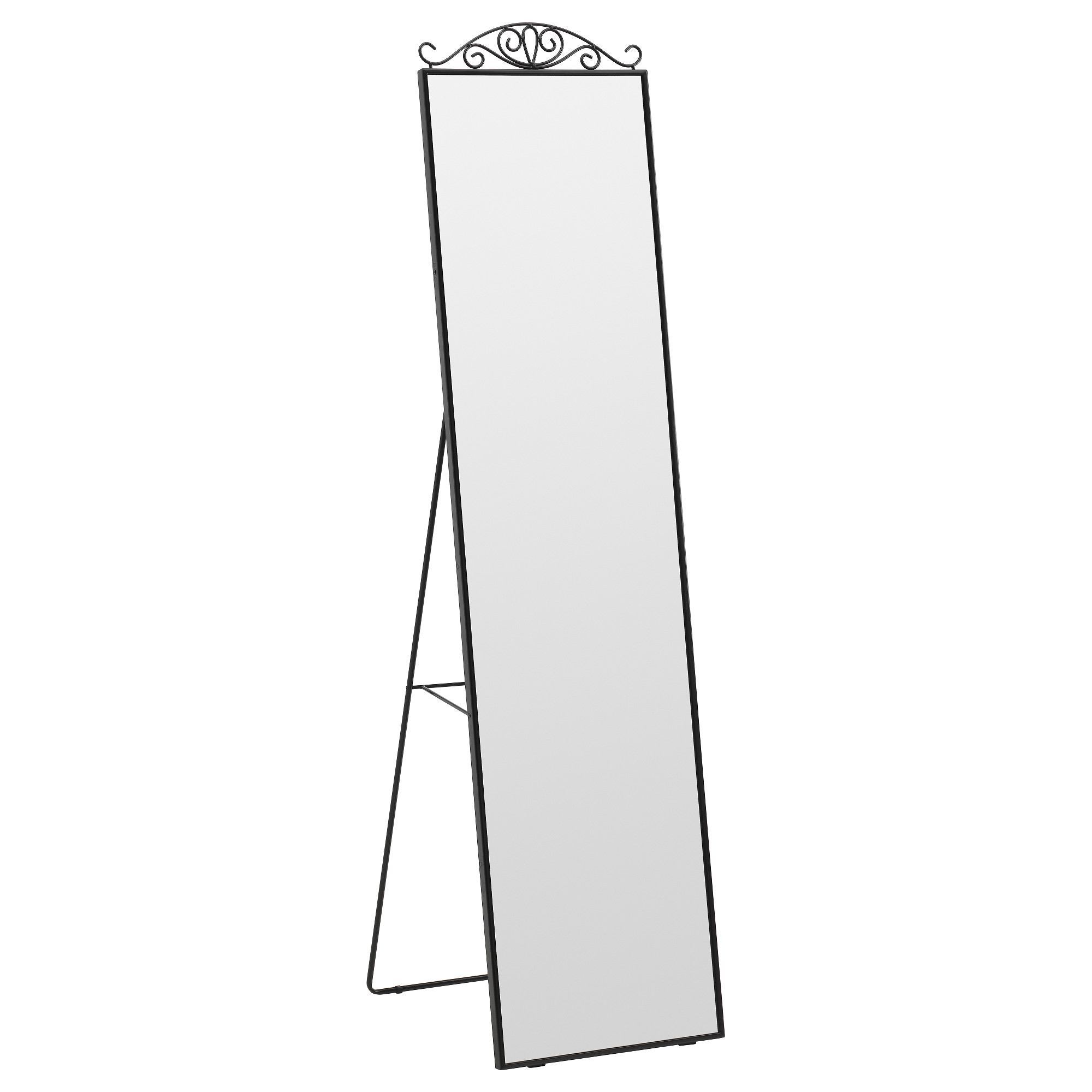 Mirrors Standing Ikea Wavy Large Floor Mirror Decoration For Most Popular Ikea Oval Wall Mirrors (View 15 of 20)