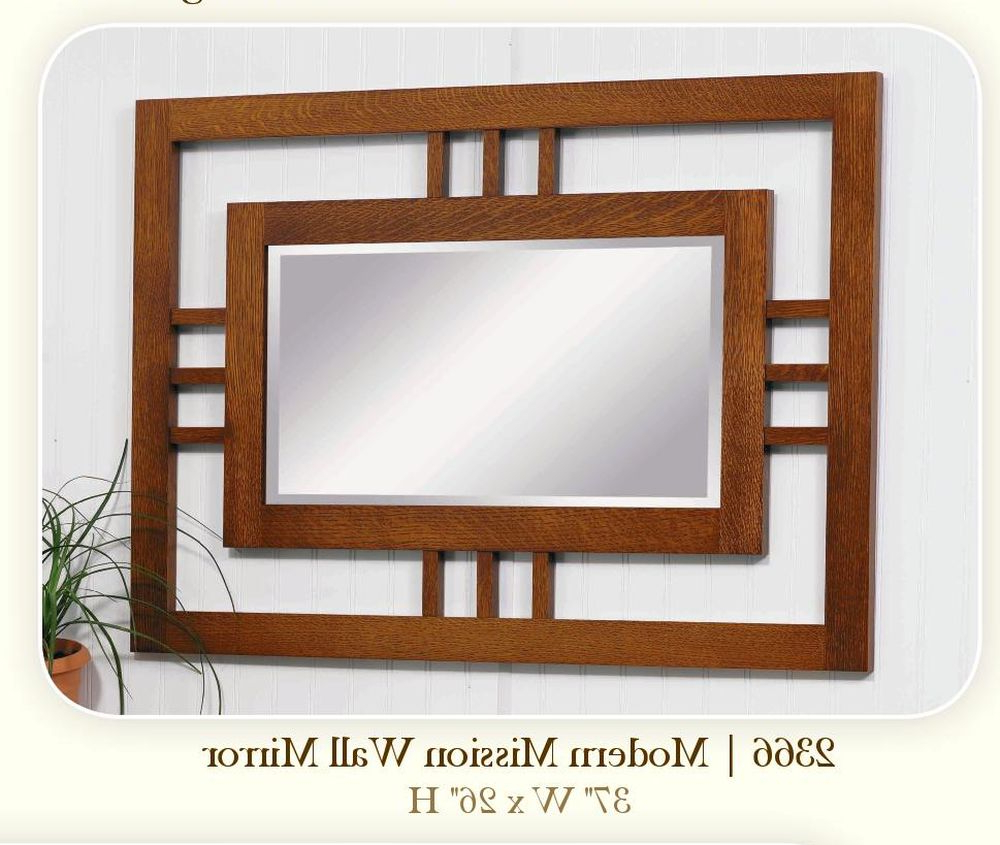 Mission Style Wall Mirrors Inside Trendy Modern Mission Mirror # (View 7 of 20)