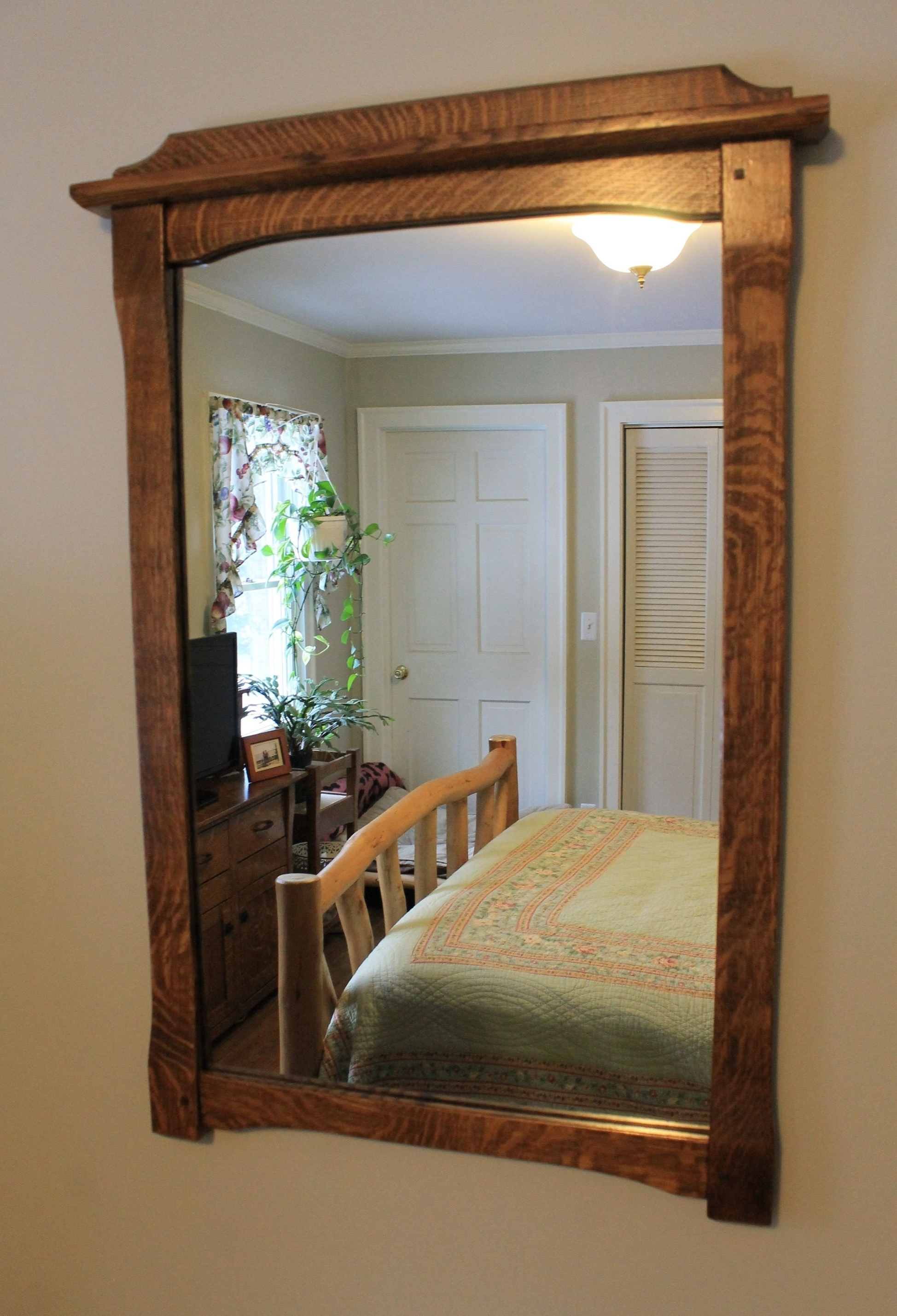 Mission Style Wall Mirrors Pertaining To Most Recently Released Mission Style Wall Mounted Mirror In Solid Quarter Sawn (View 9 of 20)