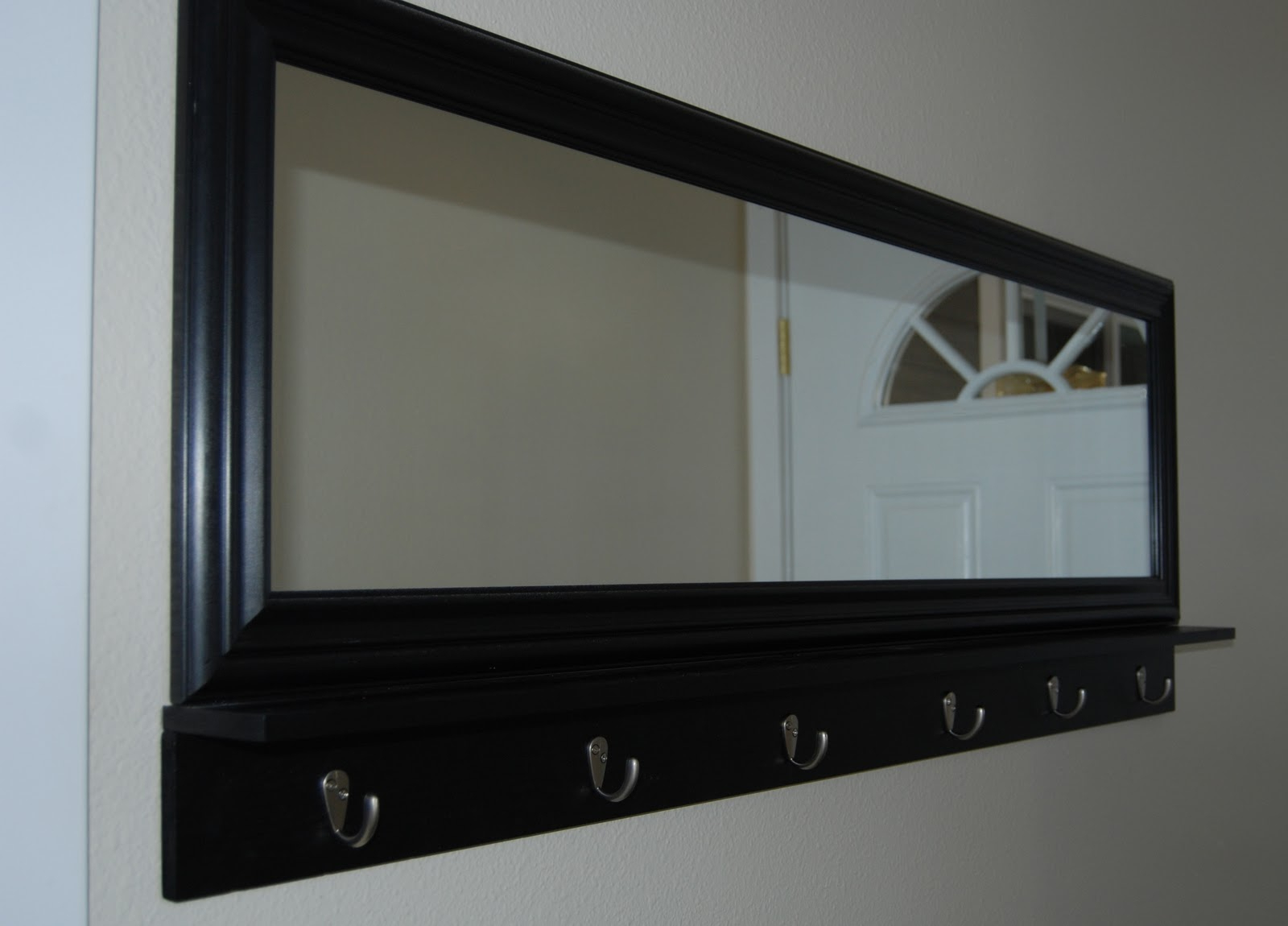 Modern Coat Rack Mirror With Hanging Farmhouse Hooks Entryway And Within Favorite Coat Rack Wall Mirrors (View 6 of 20)