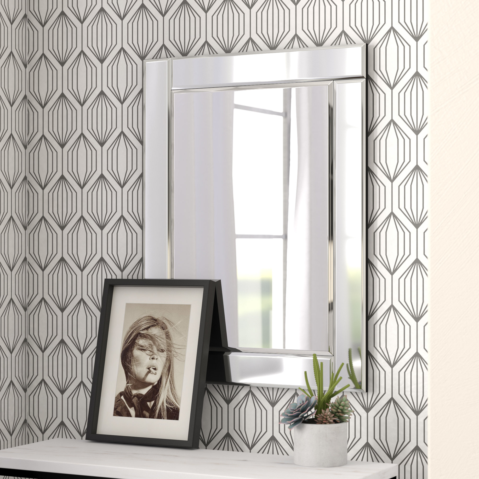 Modern & Contemporary 3 Piece Wall Mirror Set (View 14 of 20)
