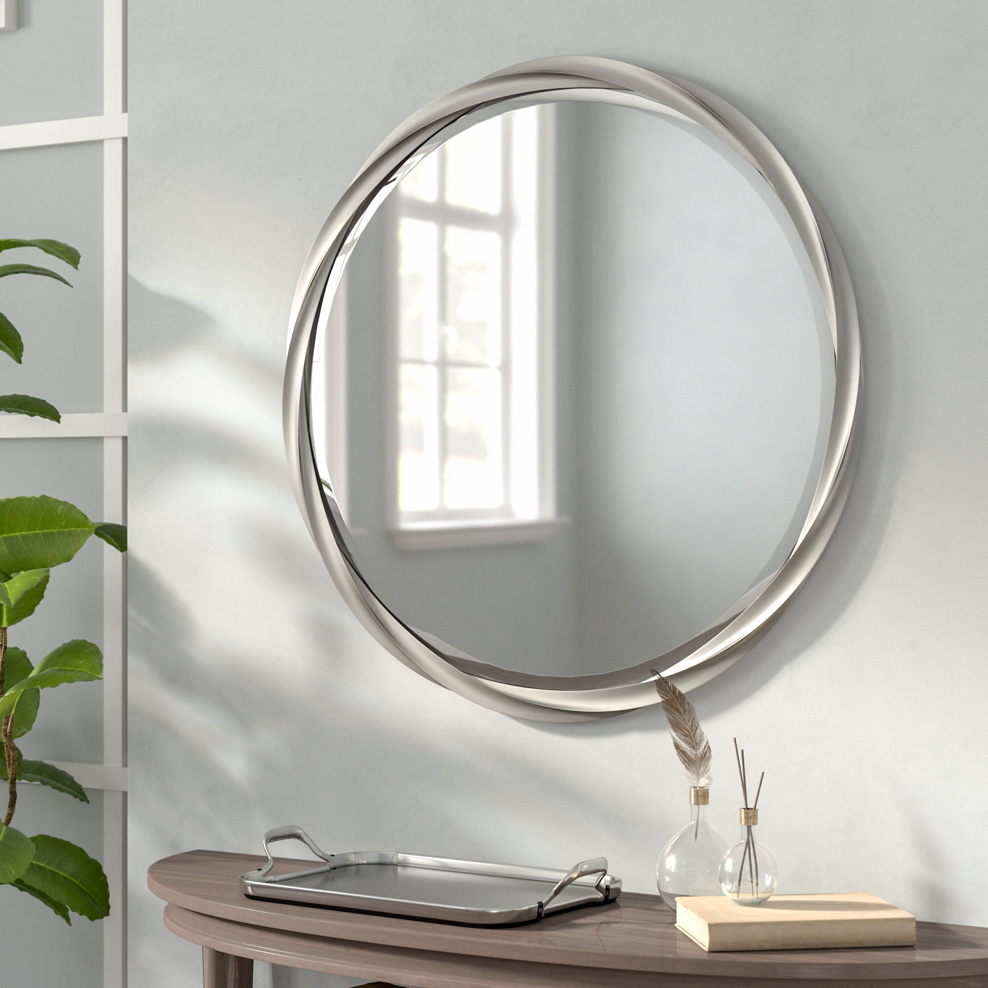 Modern & Contemporary Beveled Accent Mirrors Inside Best And Newest Modern & Contemporary Beveled Accent Mirror (View 8 of 20)