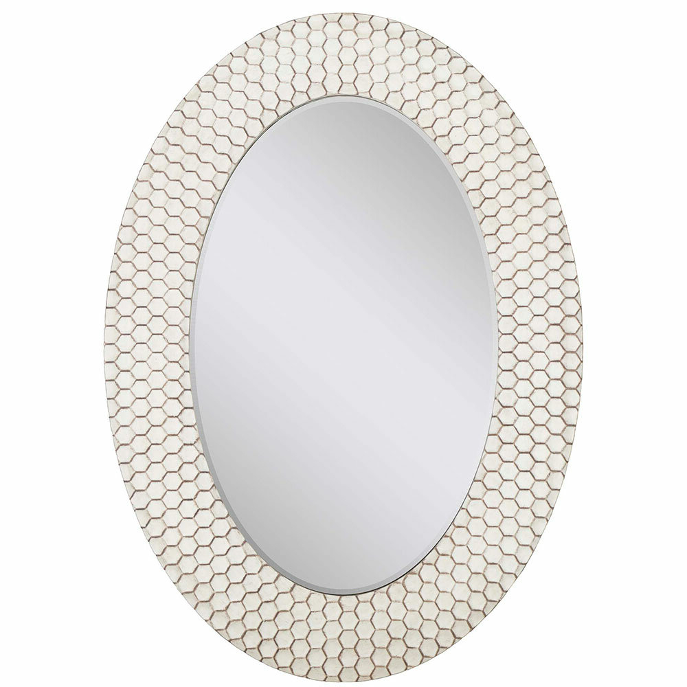 Modern & Contemporary Beveled Accent Mirrors Pertaining To 2019 Details About Mercer41 Crumb Honeycomb Cell Modern & Contemporary Beveled  Accent Mirror (View 9 of 20)