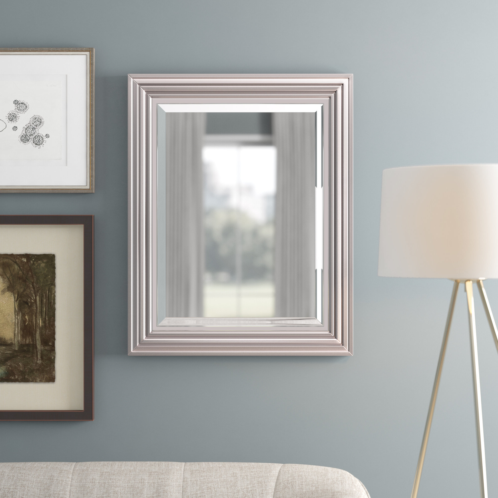 Modern & Contemporary Beveled Overmantel Mirrors Intended For Most Recent Ahner Modern & Contemporary Beveled Accent Mirror (View 11 of 20)