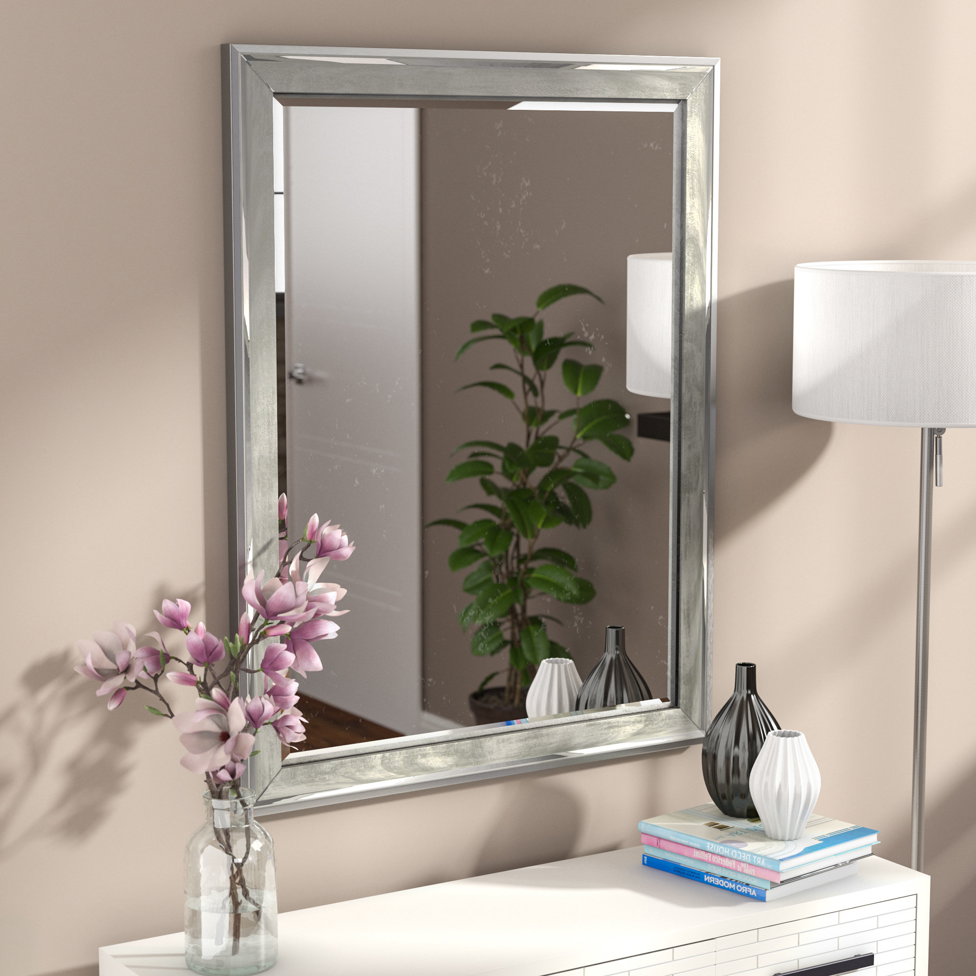 Modern & Contemporary Beveled Overmantel Mirrors Regarding 2020 Modern & Contemporary Beveled Overmantel Mirror (View 1 of 20)