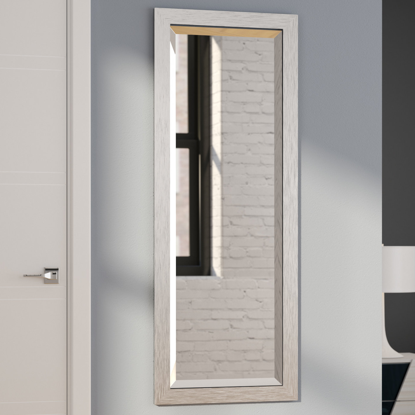 Modern & Contemporary Beveled Wall Mirrors In Favorite Modern & Contemporary Full Length Beveled Wall Mirror (View 8 of 20)