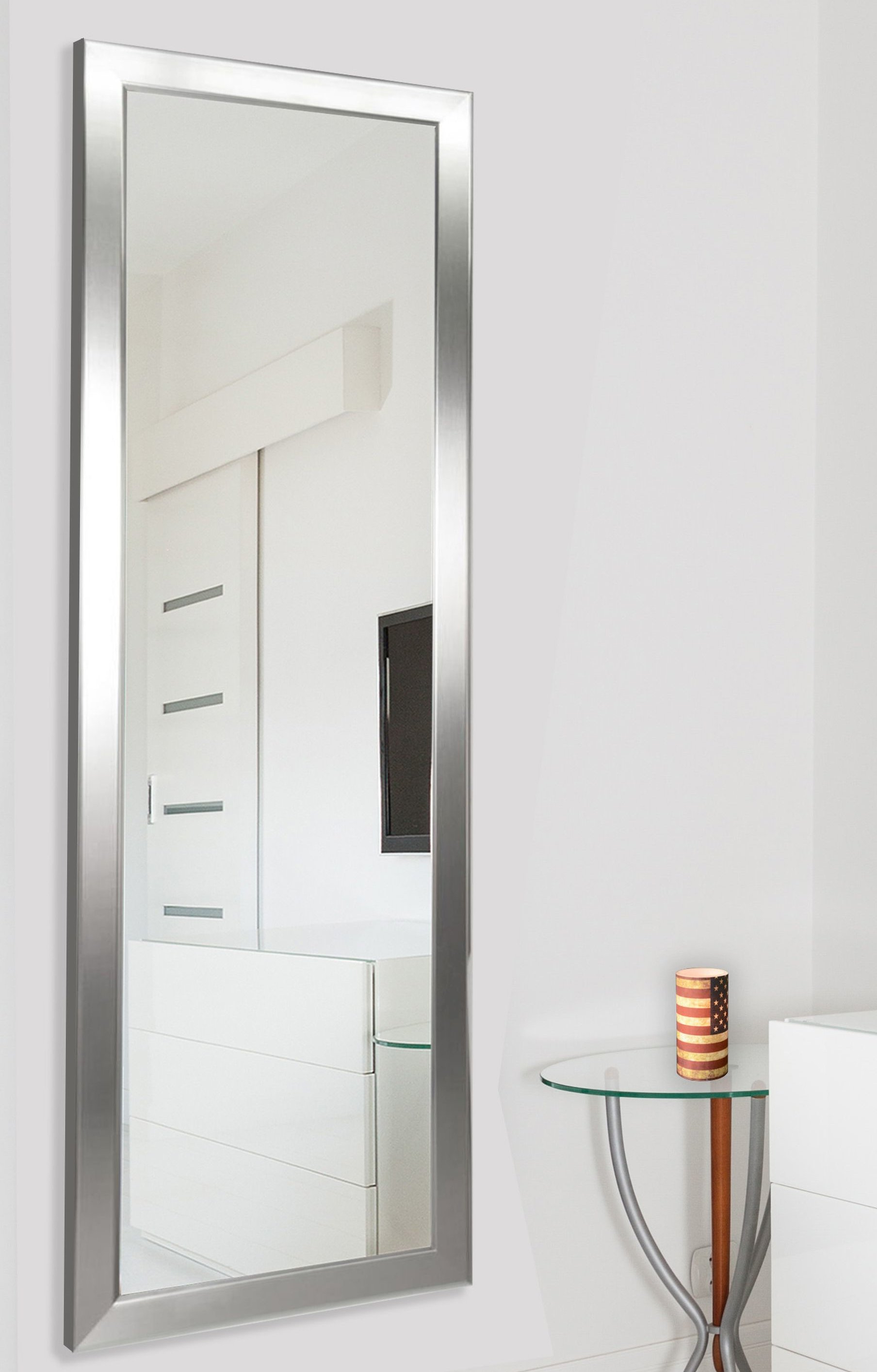 Modern & Contemporary Full Length Mirrors Intended For Most Popular Edge Minimal Modern & Contemporary Full Length Body Mirror (View 8 of 20)