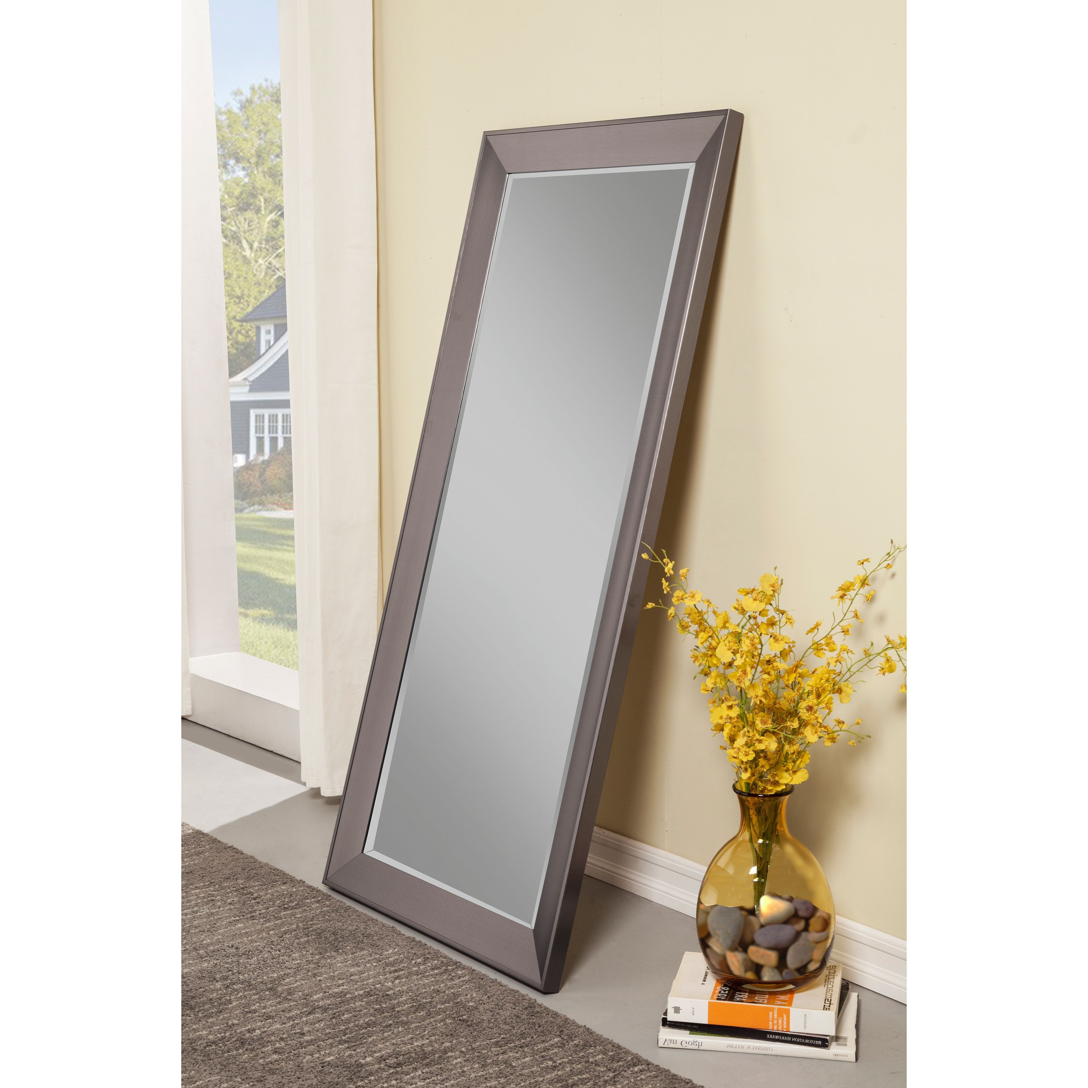 Modern & Contemporary Full Length Mirrors Pertaining To Favorite Sandberg Furniture Mid Century Modern Silver Full Length Leaner (View 9 of 20)
