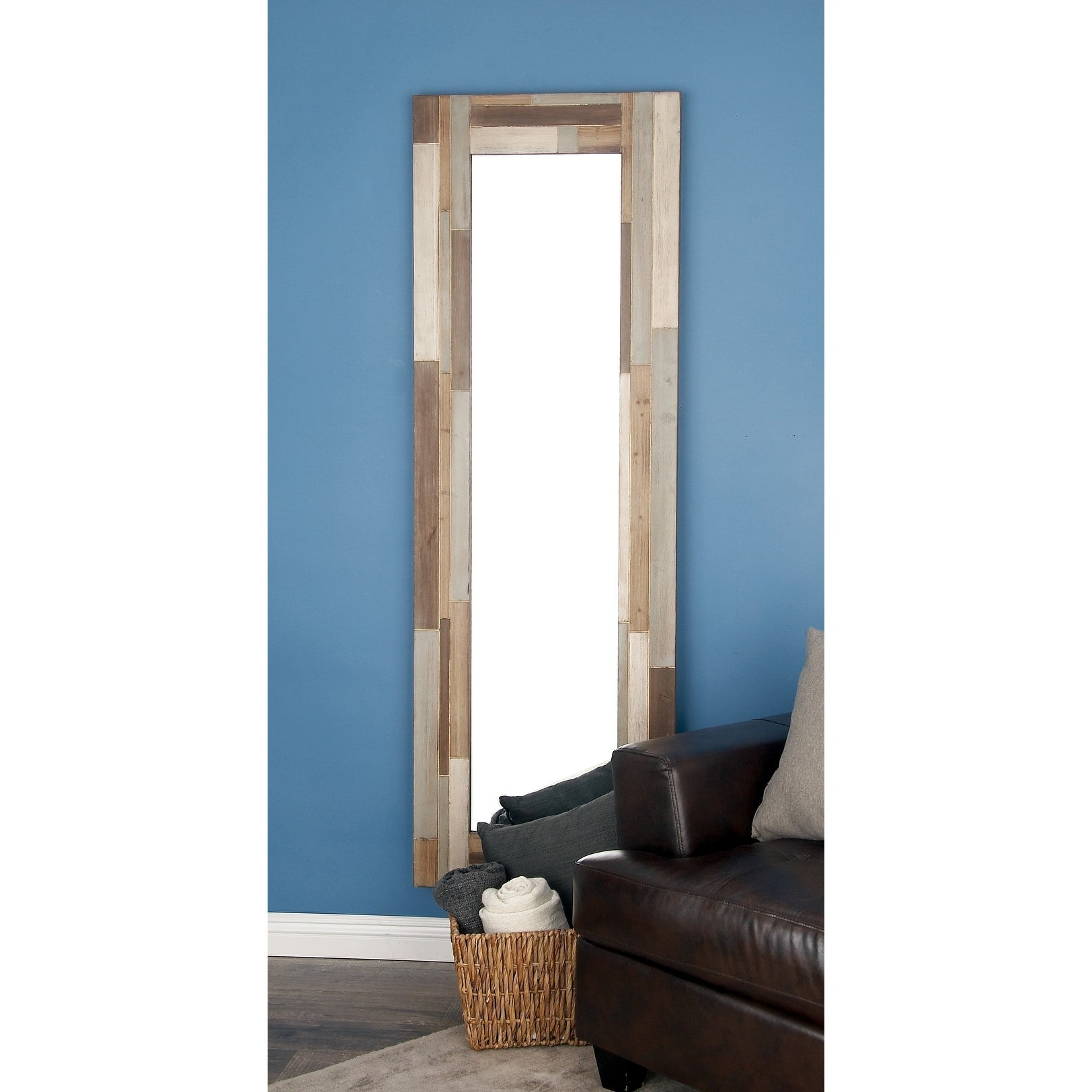 Modern Full Length Wall Mirrors Regarding Well Liked Modern 71 X 23 Inch Rectangular Full Length Wall Mirrorstudio 350 –  Taupe (View 6 of 20)