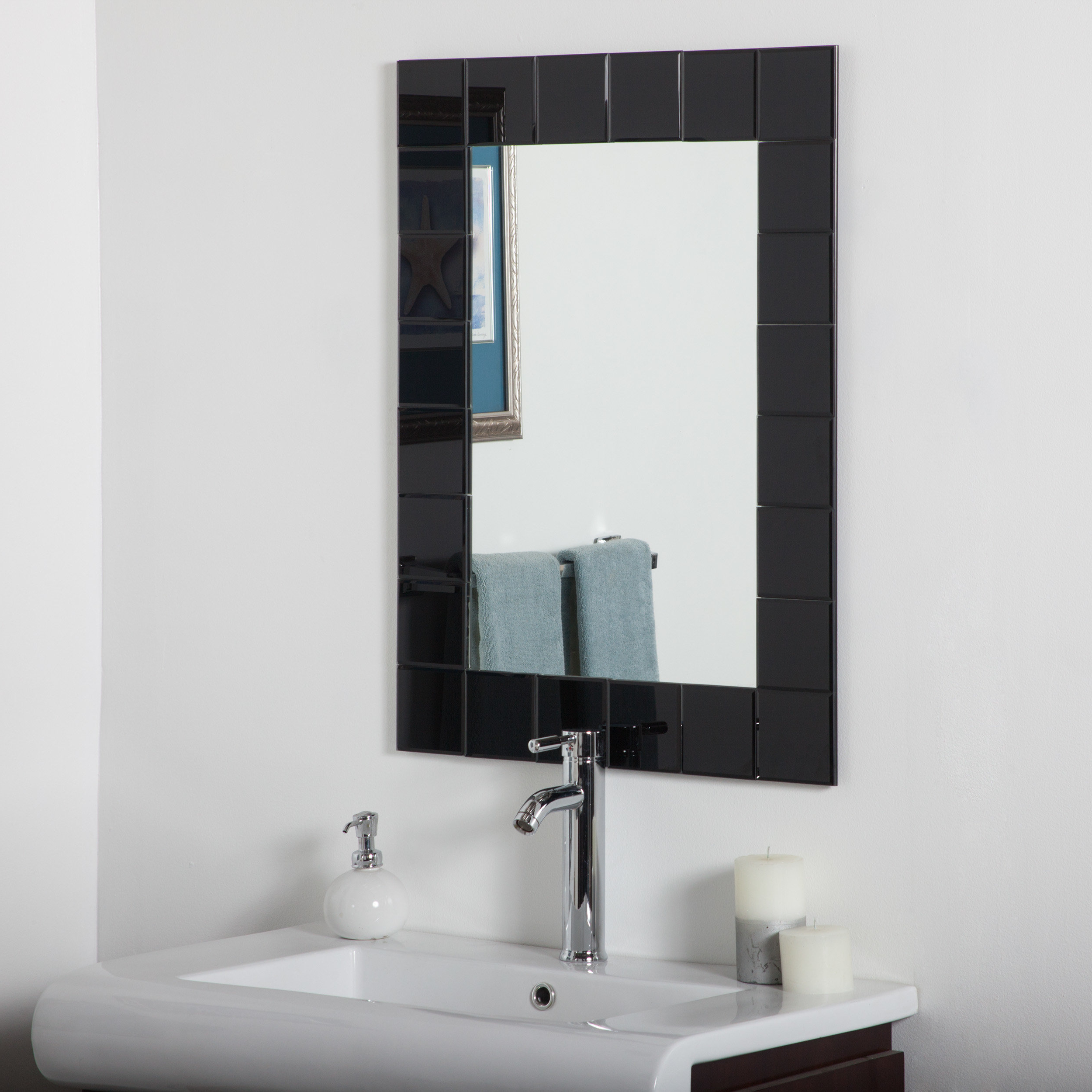 Modern Rectangle Wall Mirror With Well Known Modern Rectangle Wall Mirrors (View 7 of 20)