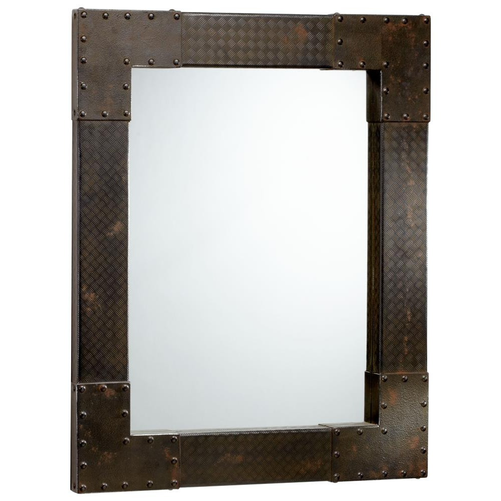 Modern Rectangle Wall Mirrors Within Widely Used Lasalle Industrial Metal Iron Modern Rectangle Wall Mirror (View 5 of 20)